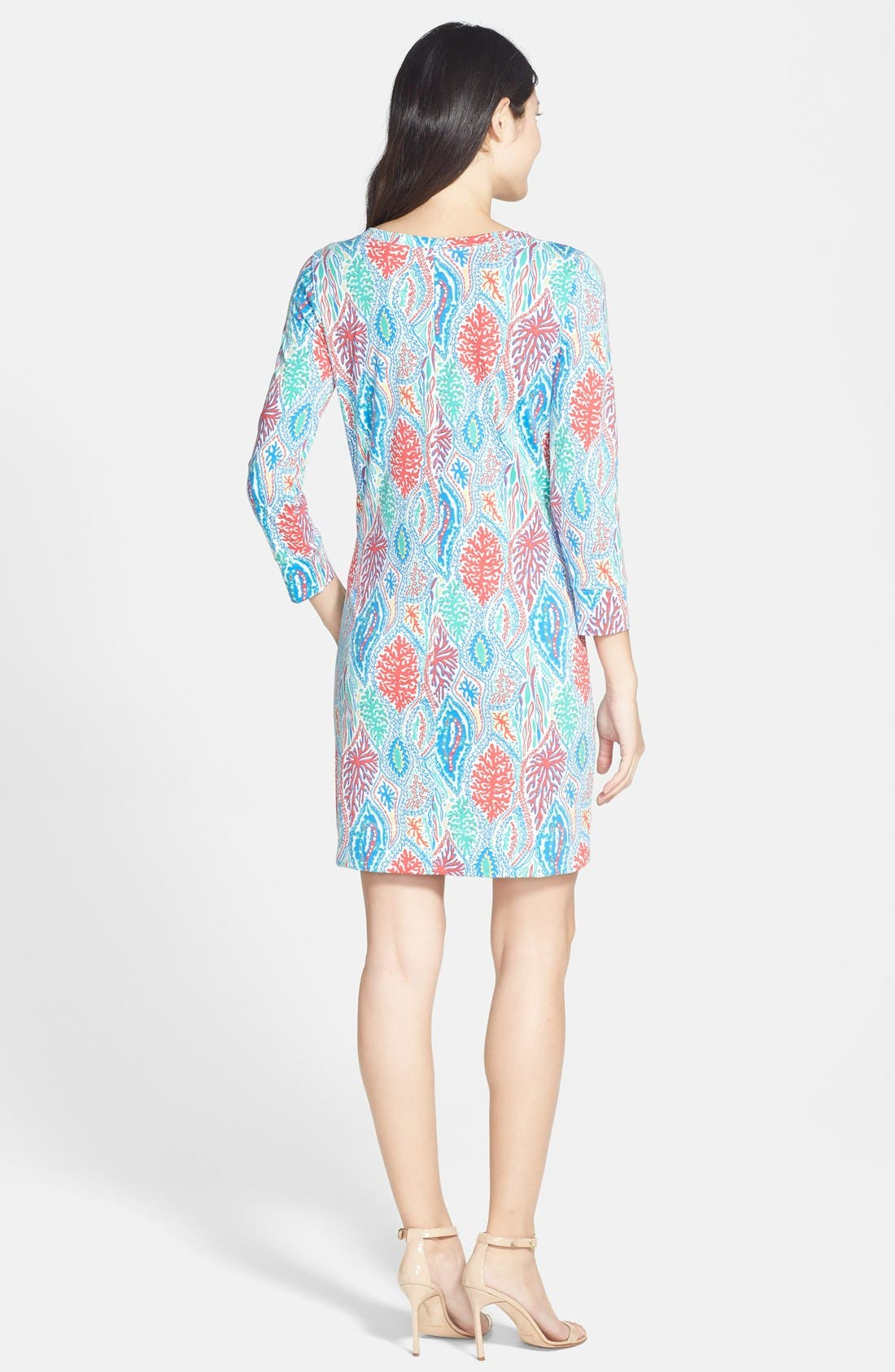 Alternate Image 2  - Lilly Pulitzer® 'Christie' Print V-Neck Shift Dress