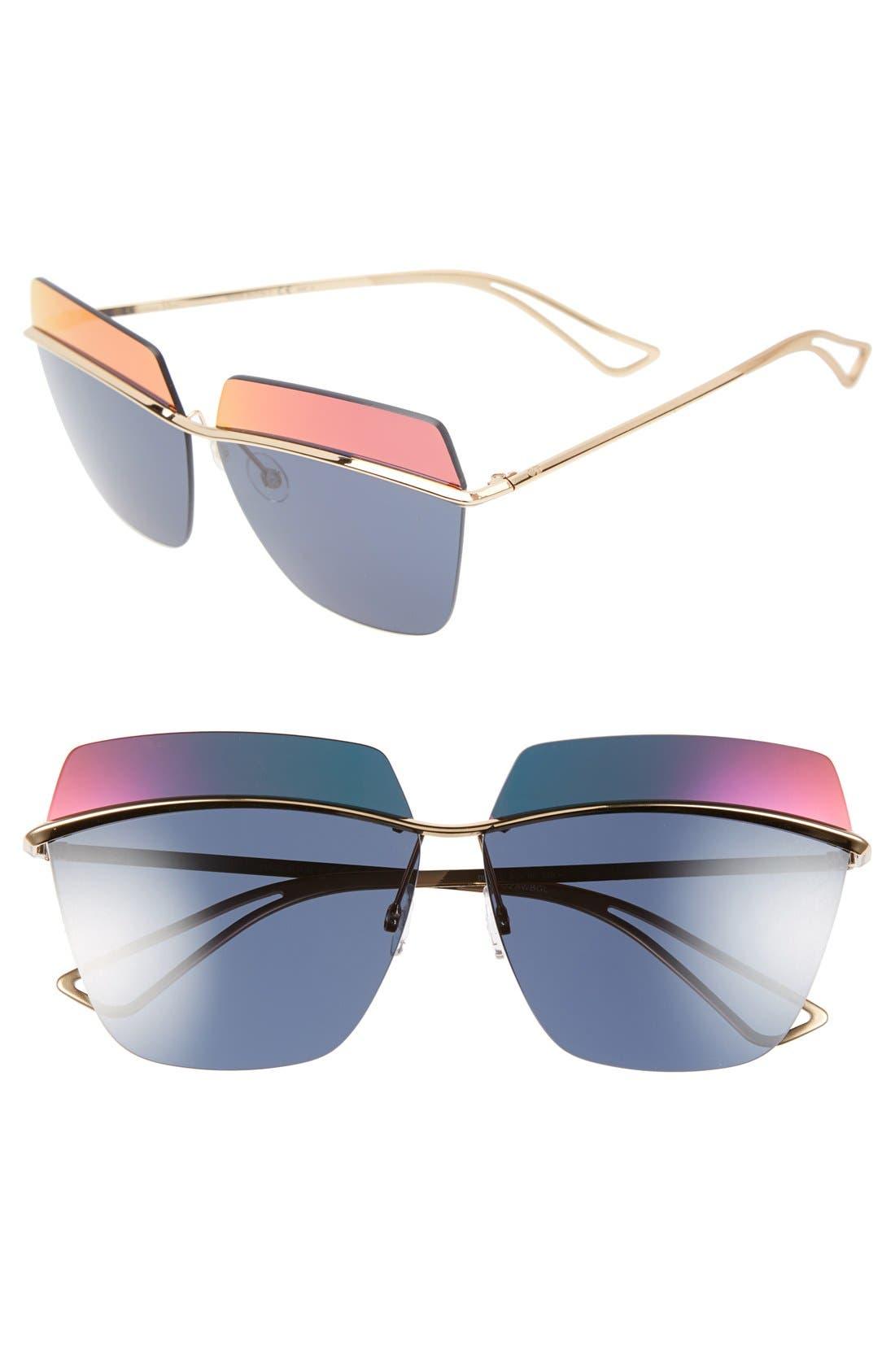Alternate Image 1 Selected - Dior 63mm Retro Metal Sunglasses