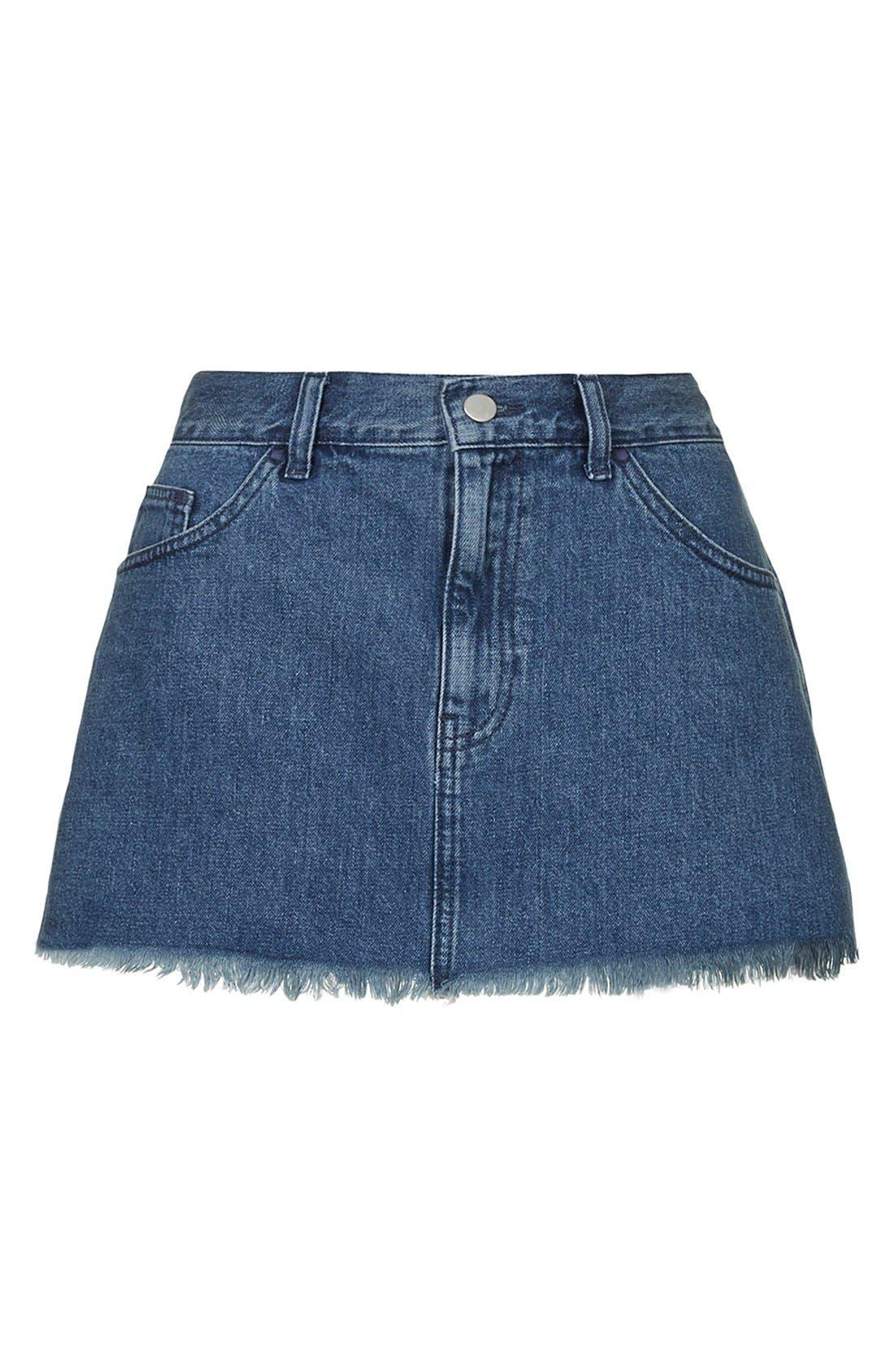 Alternate Image 4  - Marques'Almeida for Topshop Denim Miniskirt