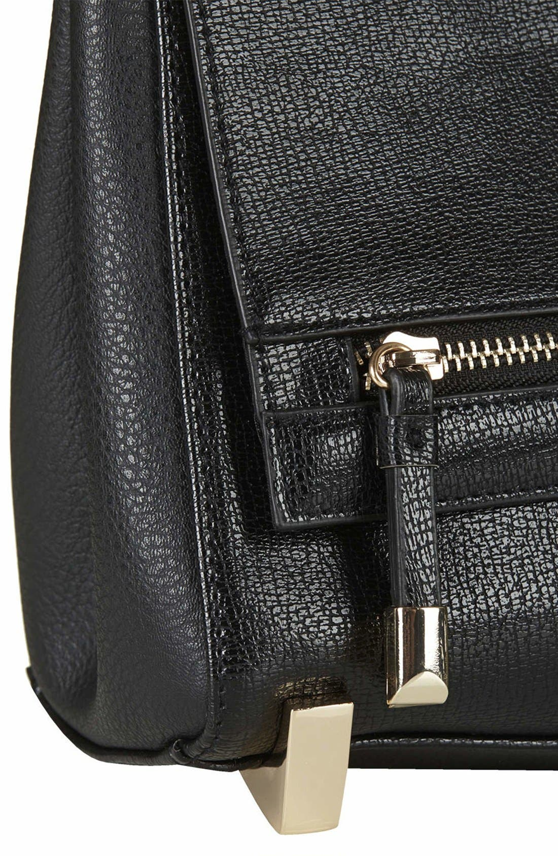 Alternate Image 3  - Topshop Faux Leather Crossbody Bag