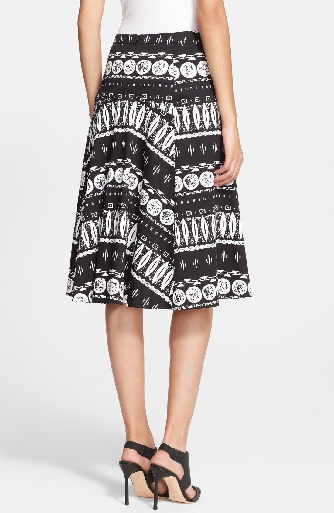 Alternate Image 2  - Veronica Beard Print A-Line Skirt