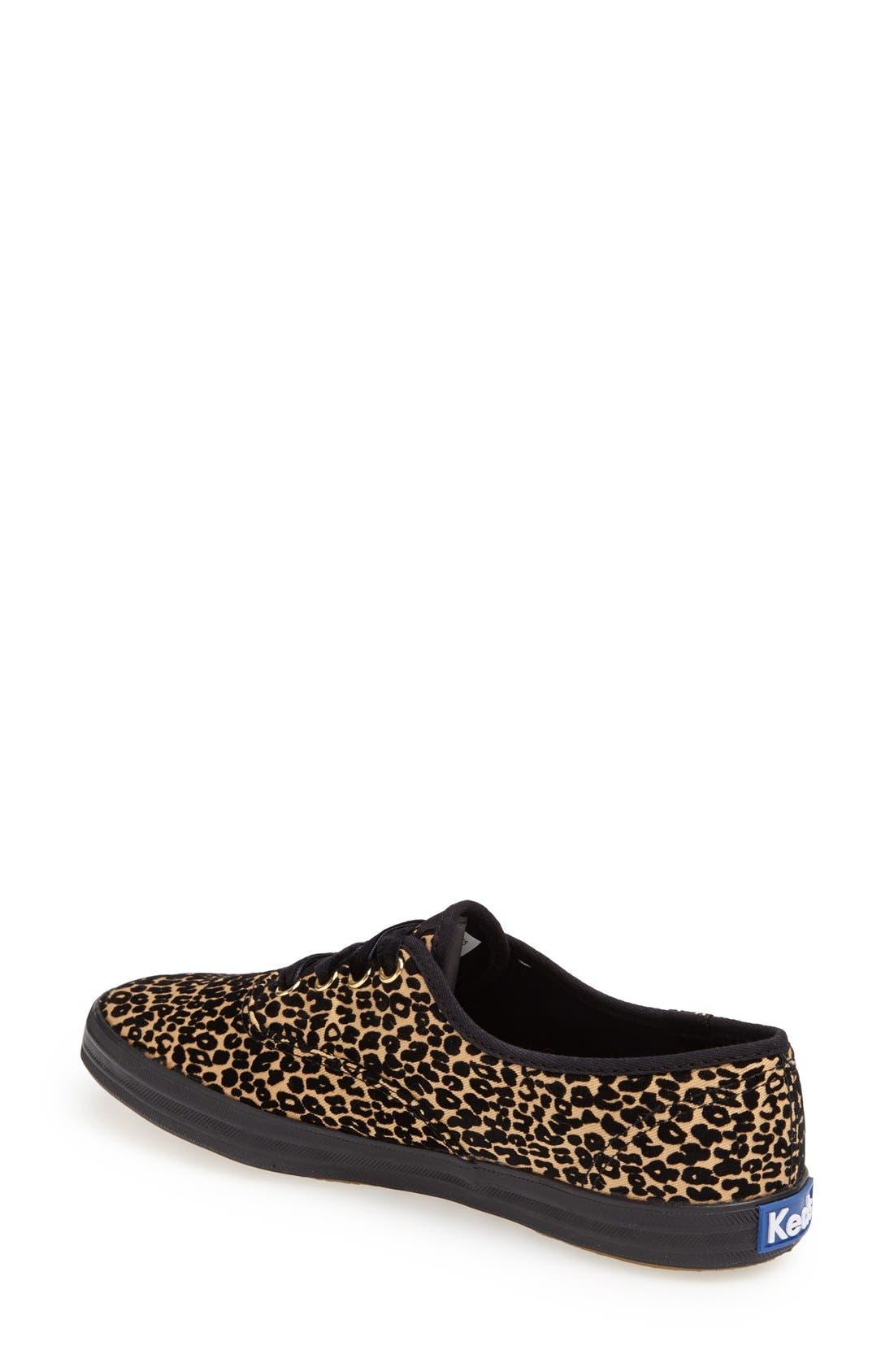 Alternate Image 2  - Keds® 'Champion - Leopard Spot' Sneaker (Women)