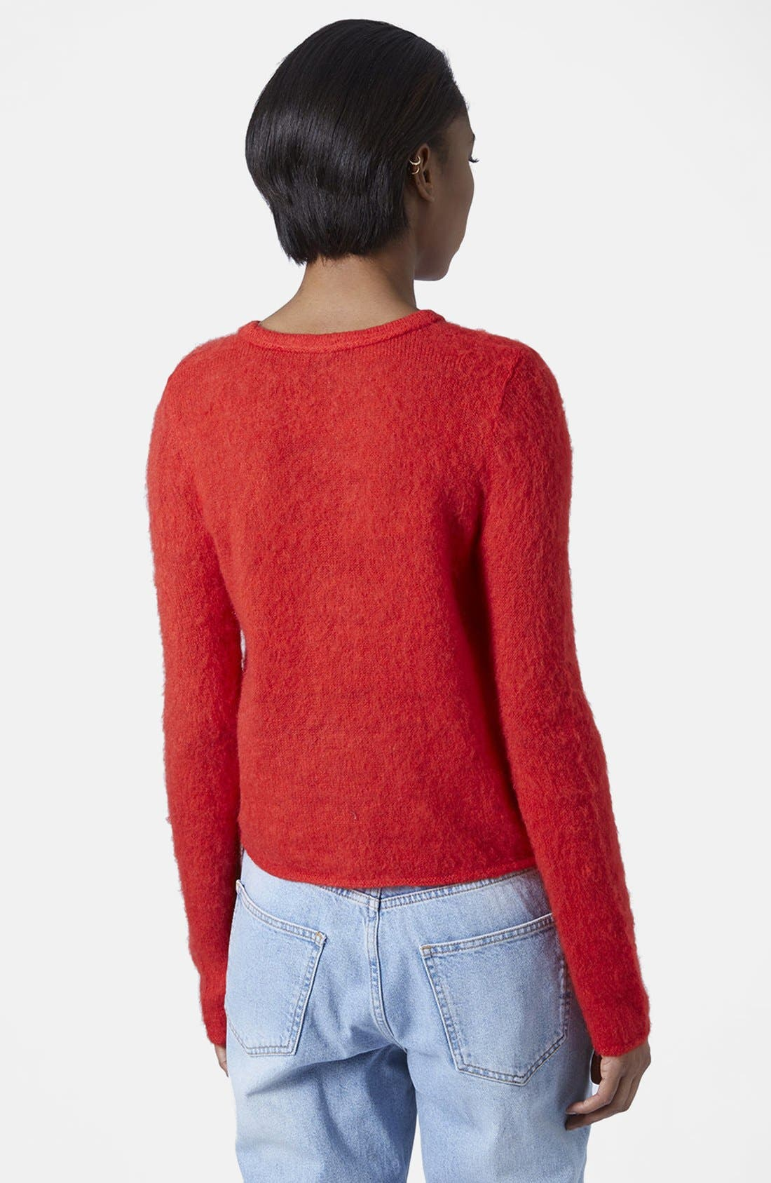 Alternate Image 2  - Topshop Boutique Fluorescent Fluffy Sweater