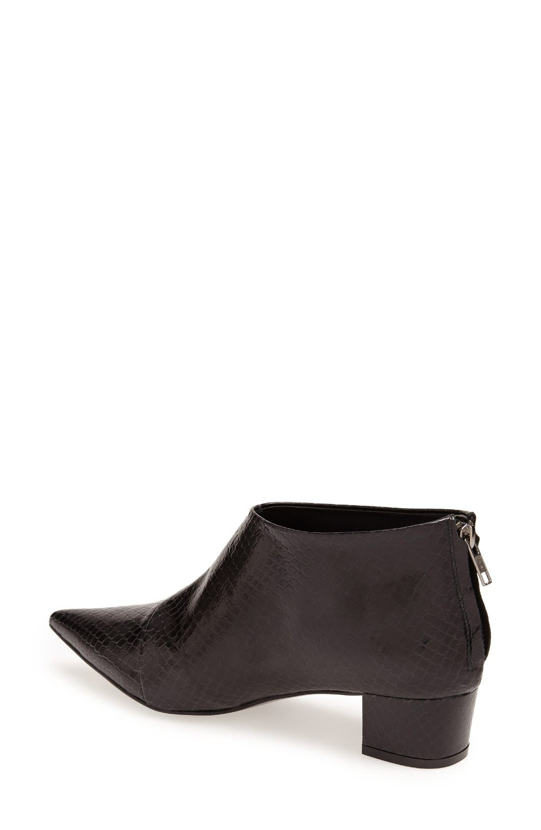 Alternate Image 2  - Topshop 'Ashley' Pointy Toe Leather Ankle Boot (Women)