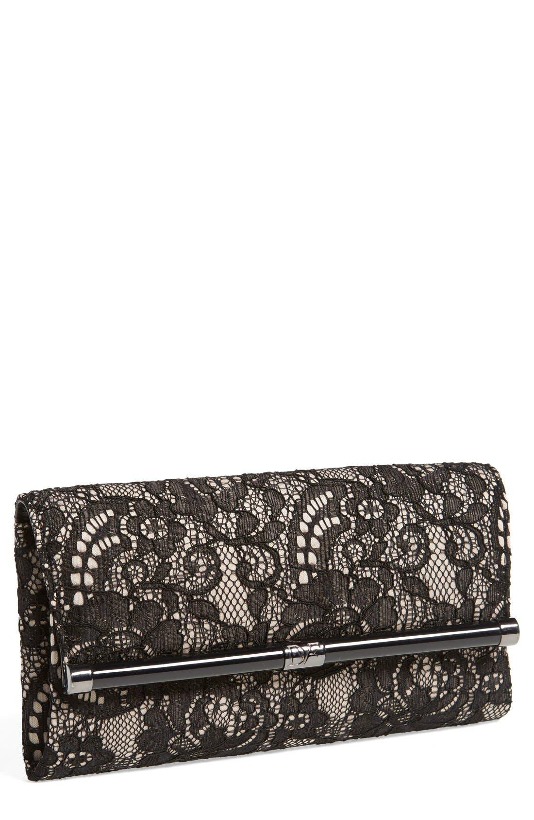Main Image - Diane von Furstenberg '440 - Lace' Envelope Clutch