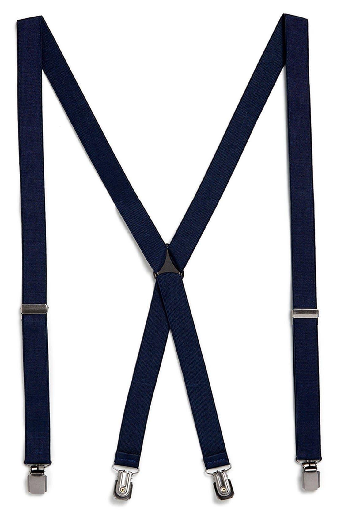 Alternate Image 1 Selected - Topman Navy Suspenders