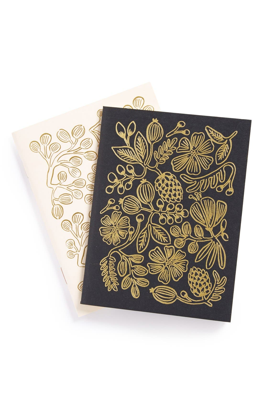 Alternate Image 1 Selected - Rifle Paper Co. Gold Foil Pocket Notebooks (Set of 2)