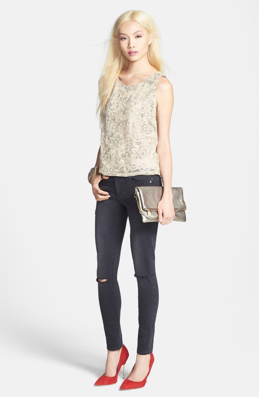 Alternate Image 4  - Paige Denim 'Verdugo' Ultra Skinny Jeans (Rayed Destructed)
