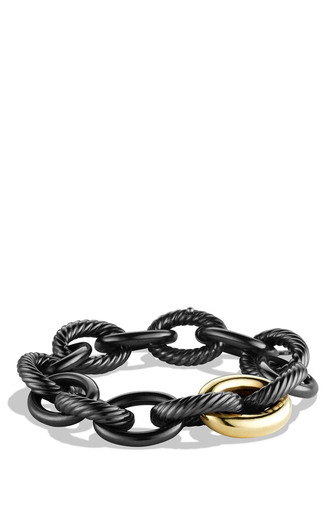 Alternate Image 1 Selected - David Yurman 'Oval' Extra-Large Link Bracelet with Gold