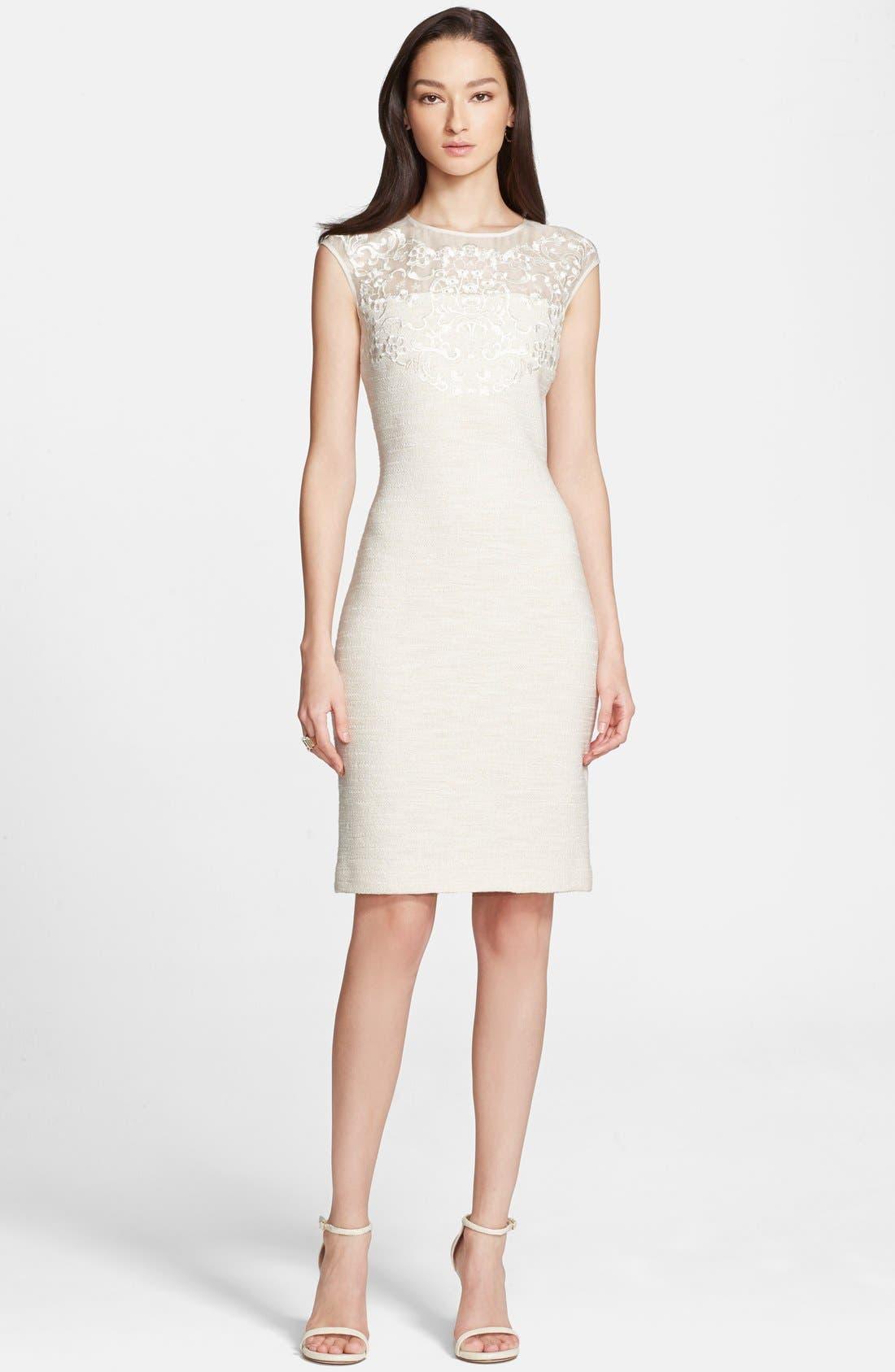 Main Image - St. John Collection Sparkle Shantung Knit Dress
