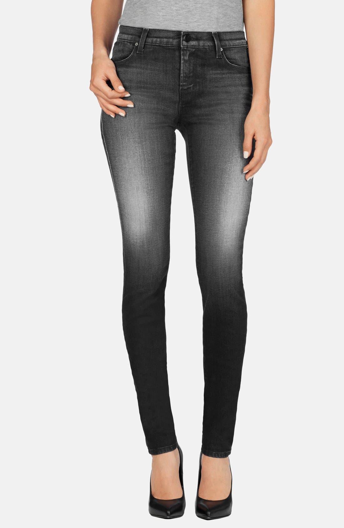Main Image - J Brand Mid Rise Super Skinny Jeans (Polarized)
