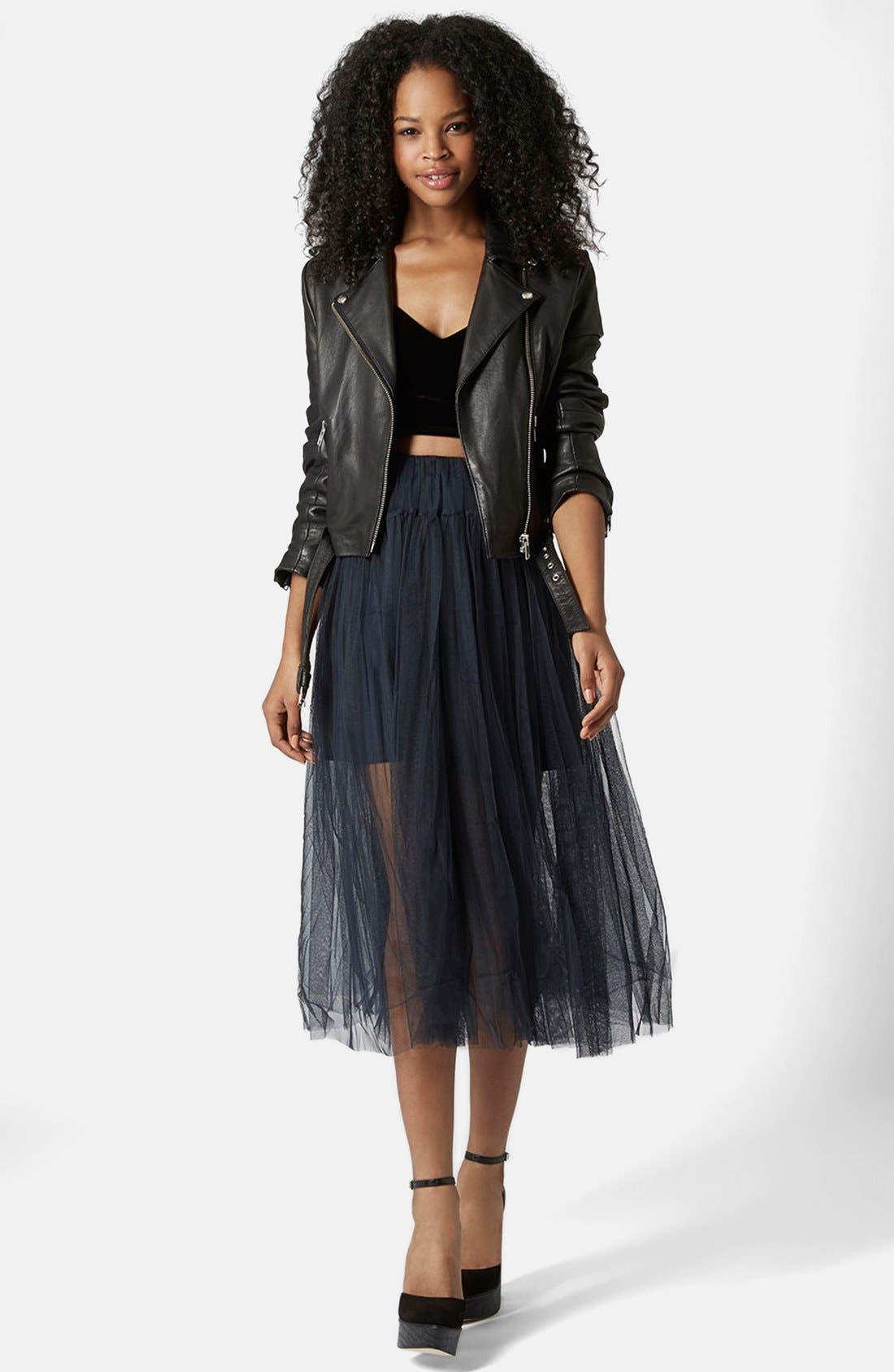 Alternate Image 5  - Topshop Layered Mesh Skirt
