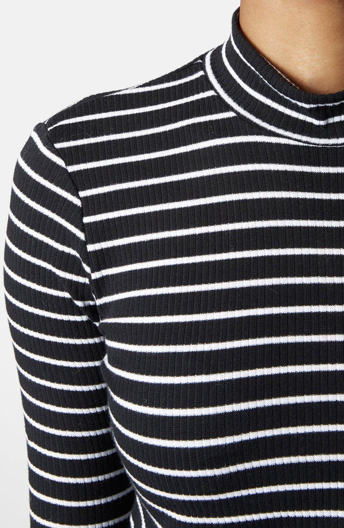 Alternate Image 3  - Topshop Long Sleeve Rib Knit Top