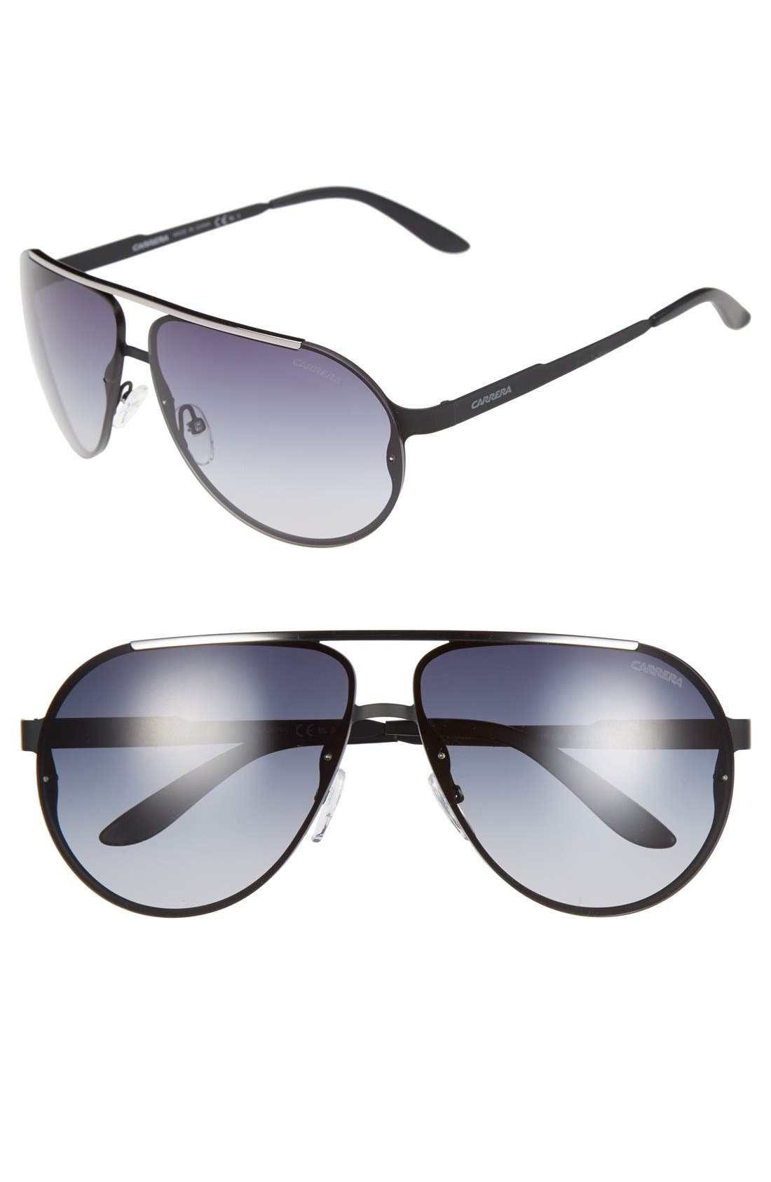 Carrera Eyewear 65mm Aviator Sunglasses