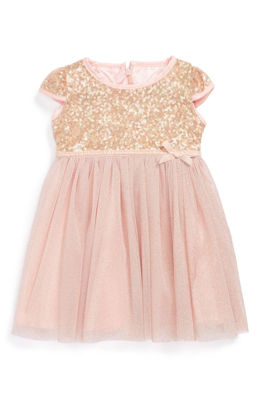 Main Image - Dorissa Tulle Sequin Dress (Baby Girls)