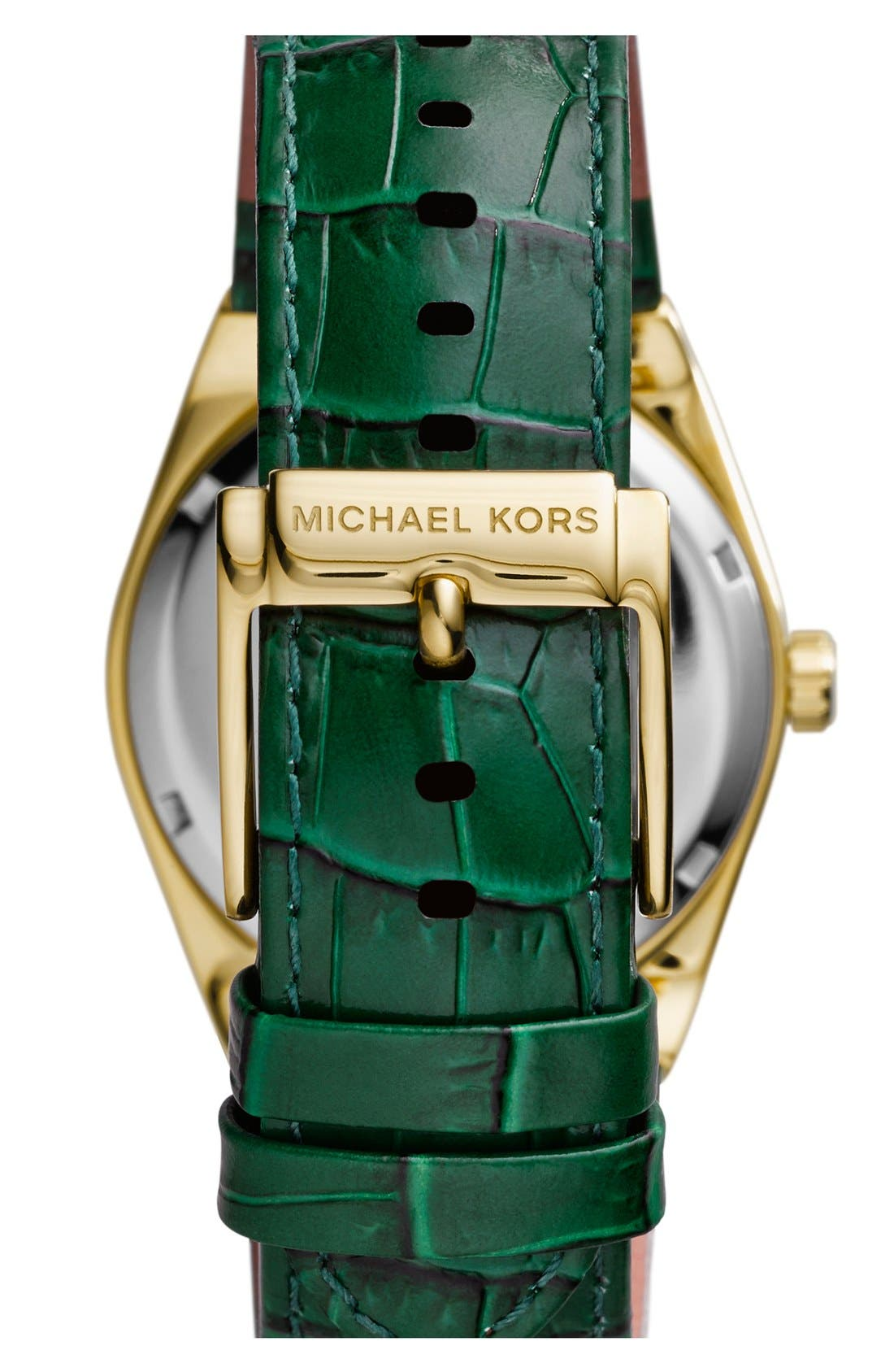 Alternate Image 3  - Michael Kors 'Channing' Leather Strap Watch, 38mm