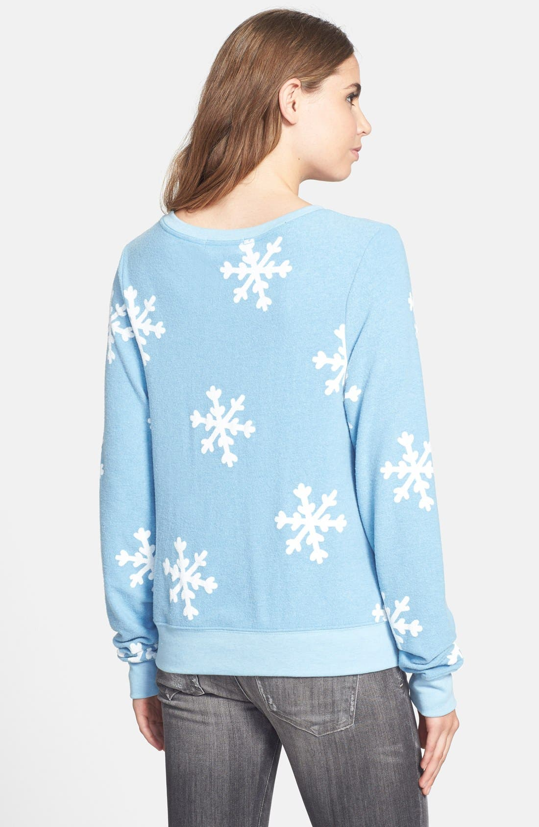 Alternate Image 2  - Wildfox 'Snowflake' Baggy Beach Jumper Pullover