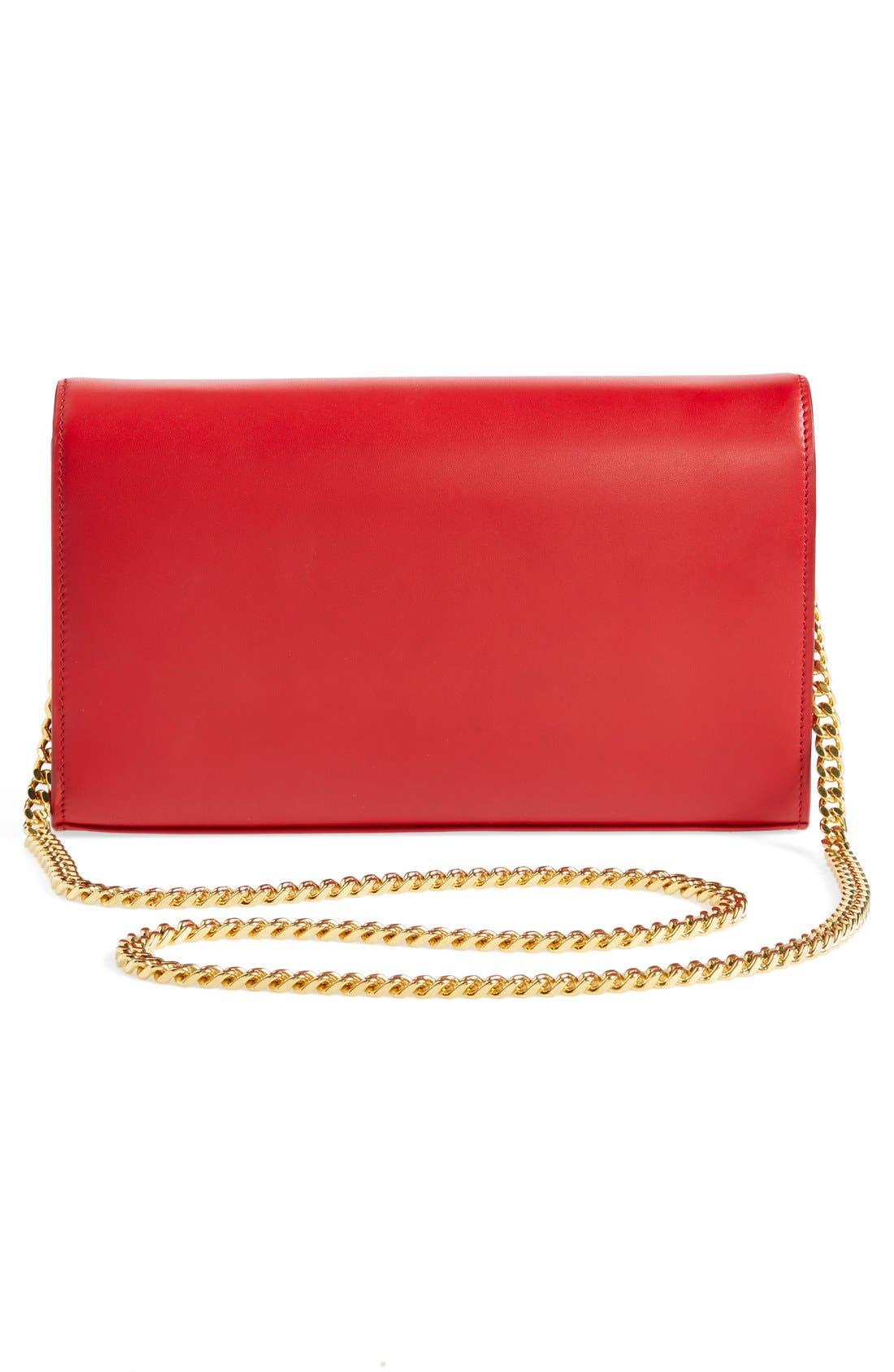 Alternate Image 3  - Saint Laurent 'Monogram' Leather Wallet on a Chain