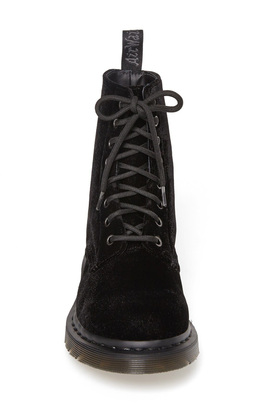 Alternate Image 3  - Dr. Martens 'Page 8-Eye' Velvet Boot (Women)