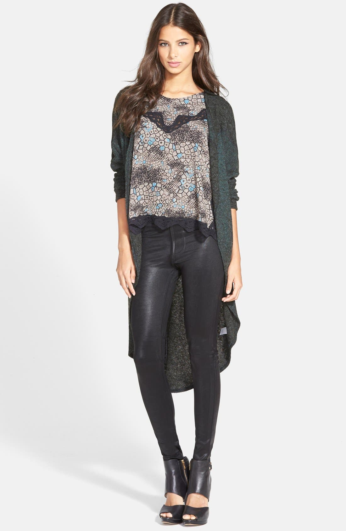 Alternate Image 1 Selected - ASTR Open Front Cardigan