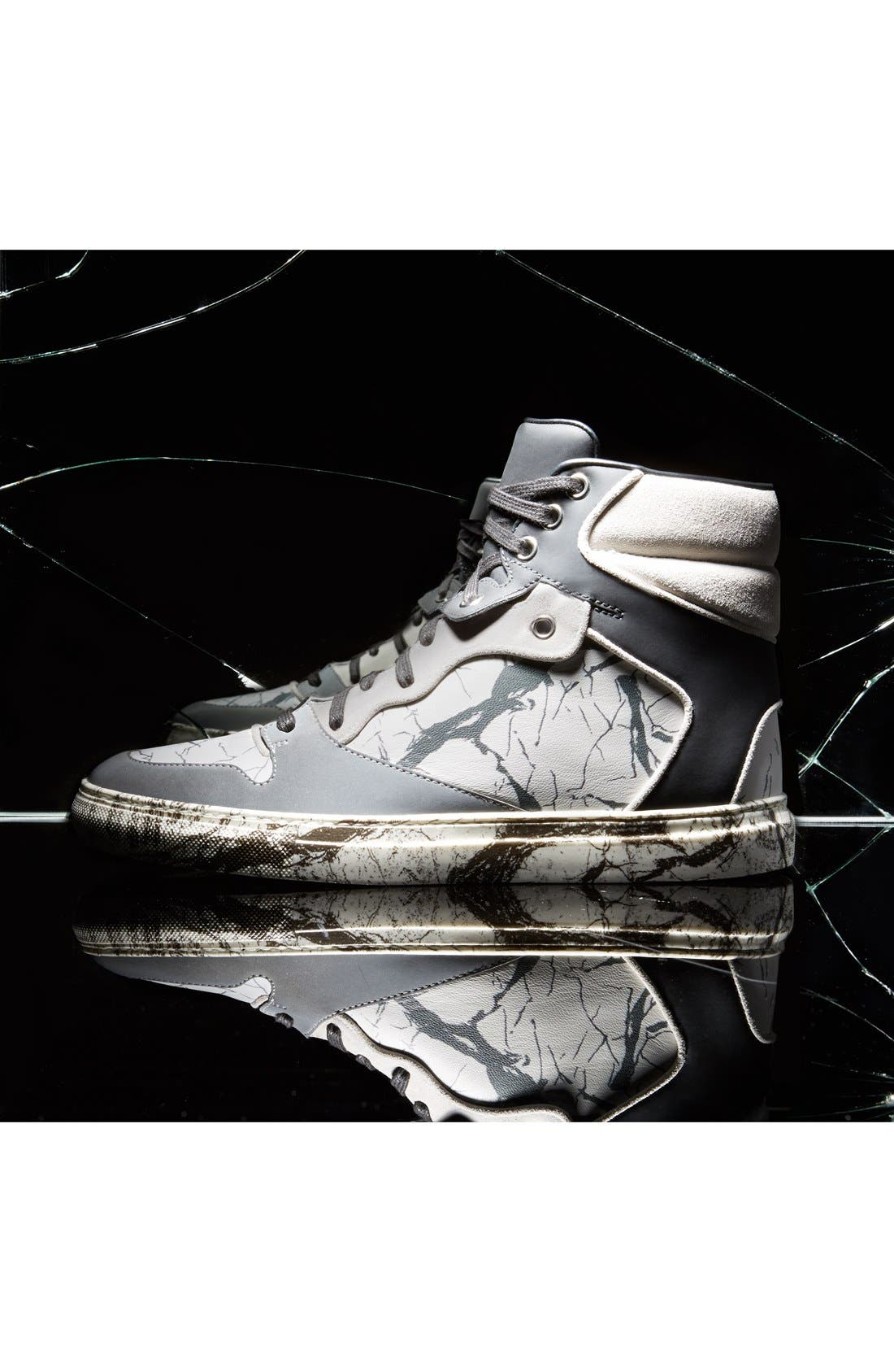 Alternate Image 5  - Balenciaga Nappa Leather High Top Sneaker (Women)
