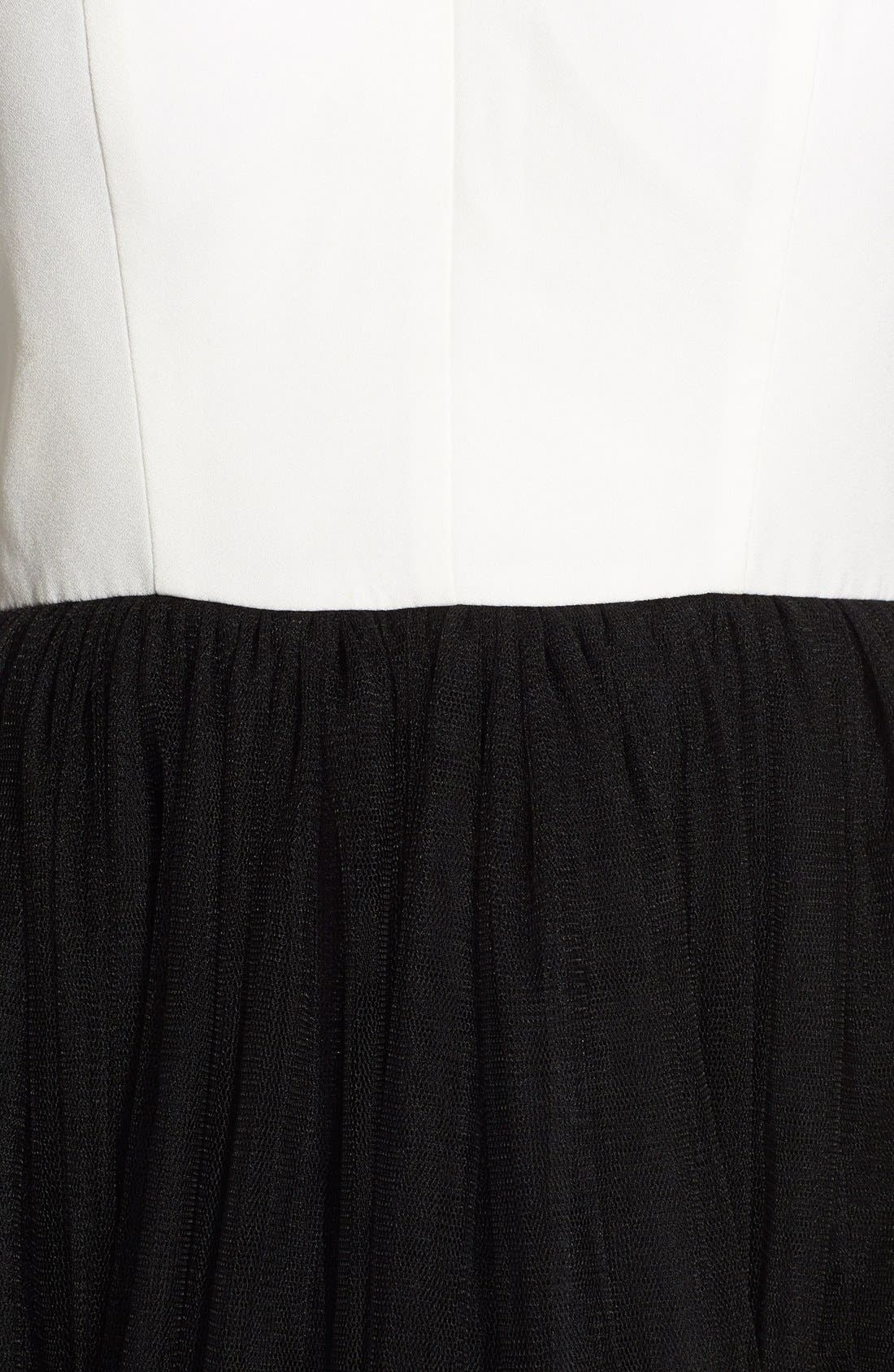 Alternate Image 3  - a. drea 'Zoe' Colorblock Lace Illusion Halter Skater Dress (Juniors)