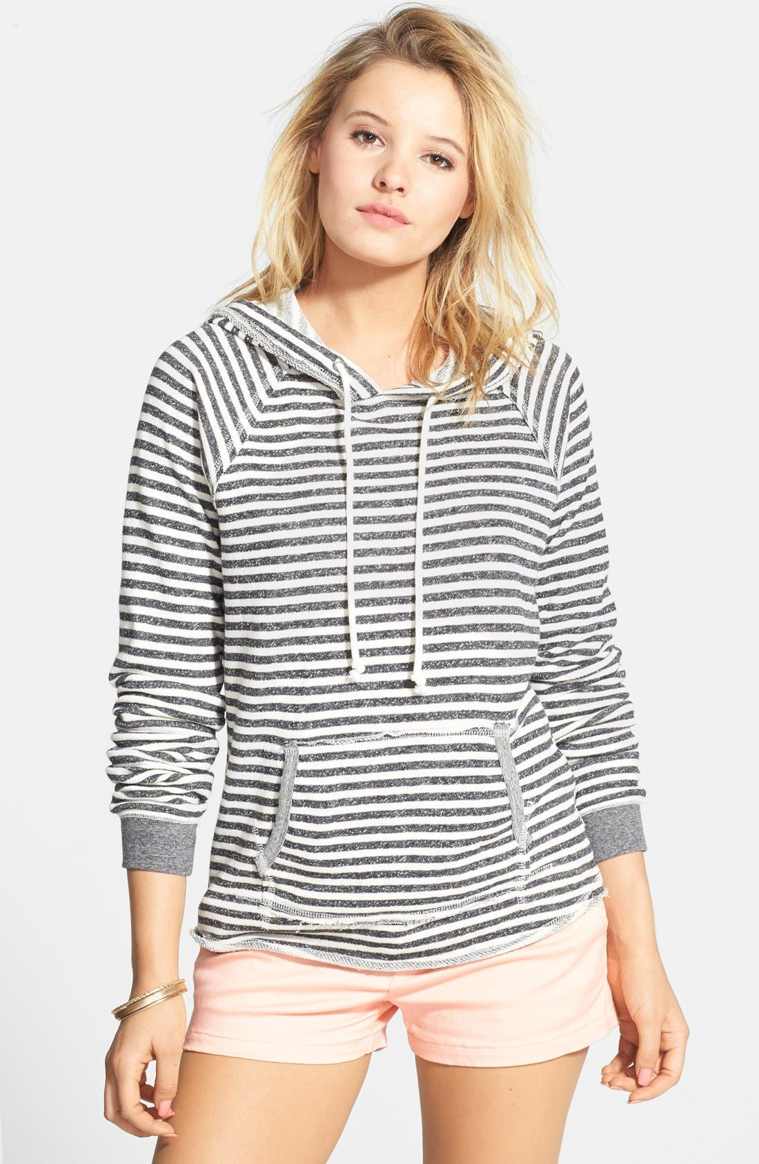 Main Image - Volcom 'Front Page' Stripe French Terry Pullover