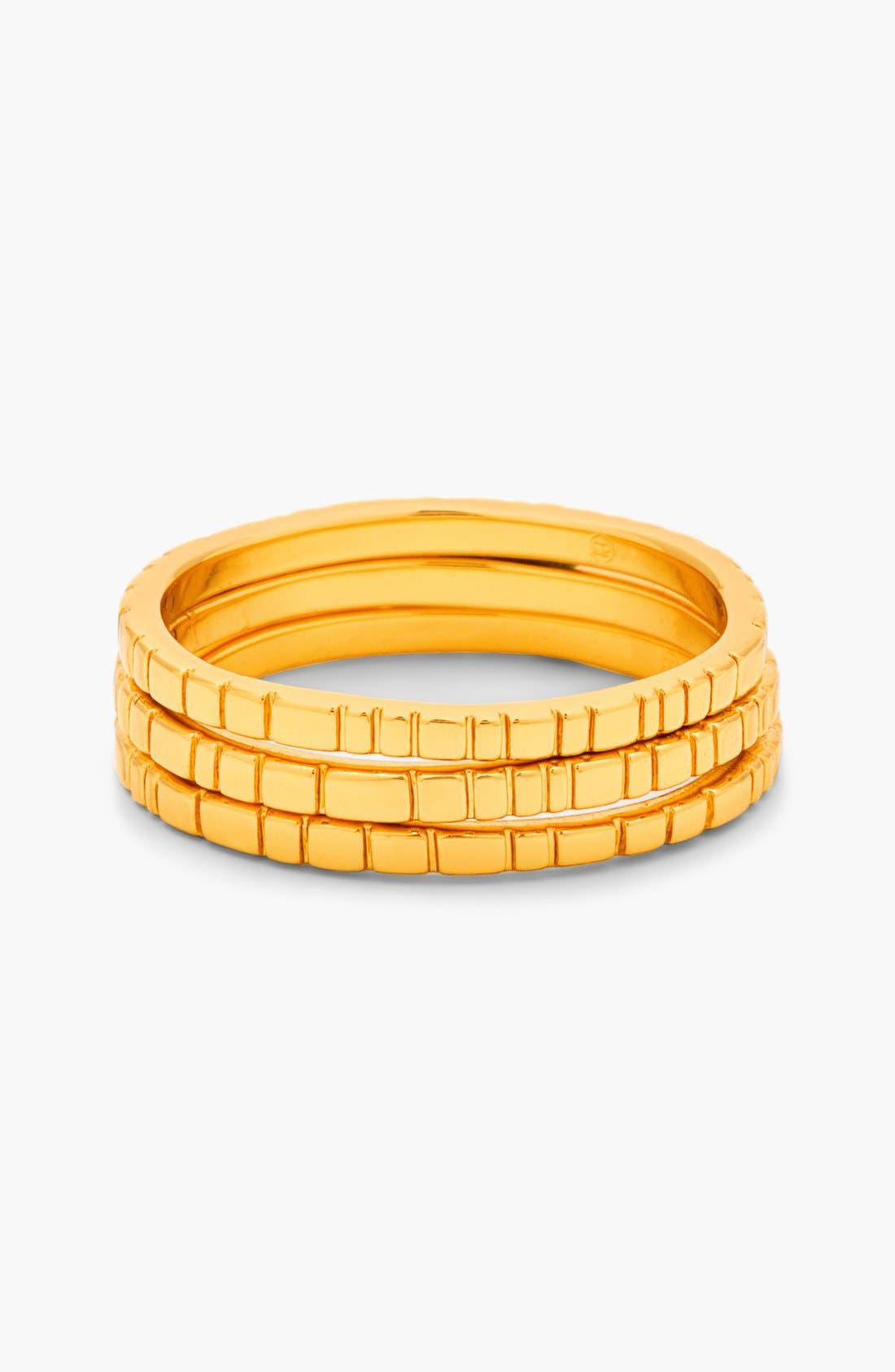 Main Image - gorjana 'Evi' Midi Rings (Set of 3)