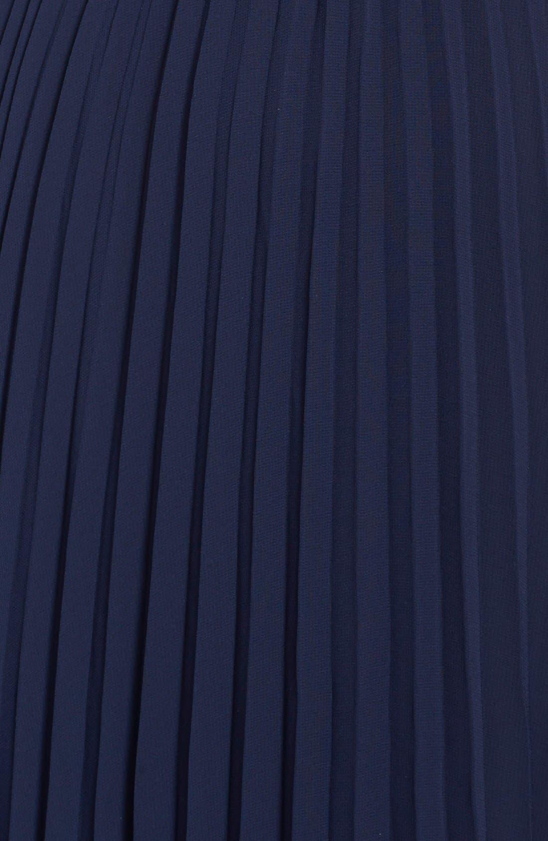 Alternate Image 3  - Eliza J Pleated Chiffon Gown