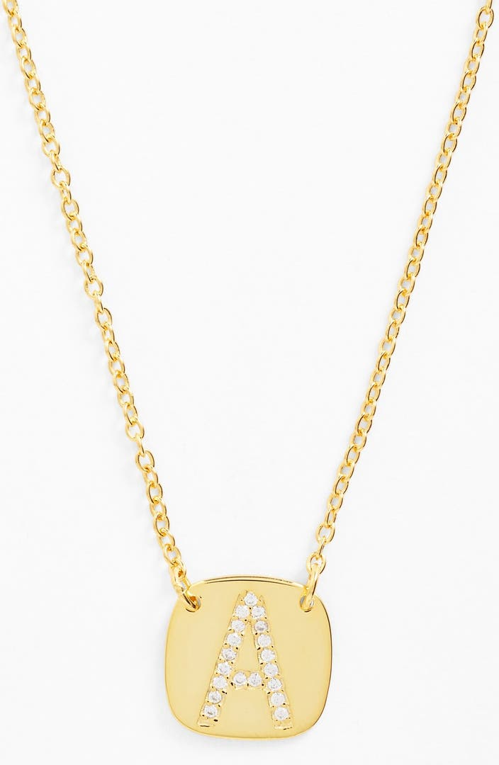 Lola James Jewelry Ice Box Initial Pendant Necklace