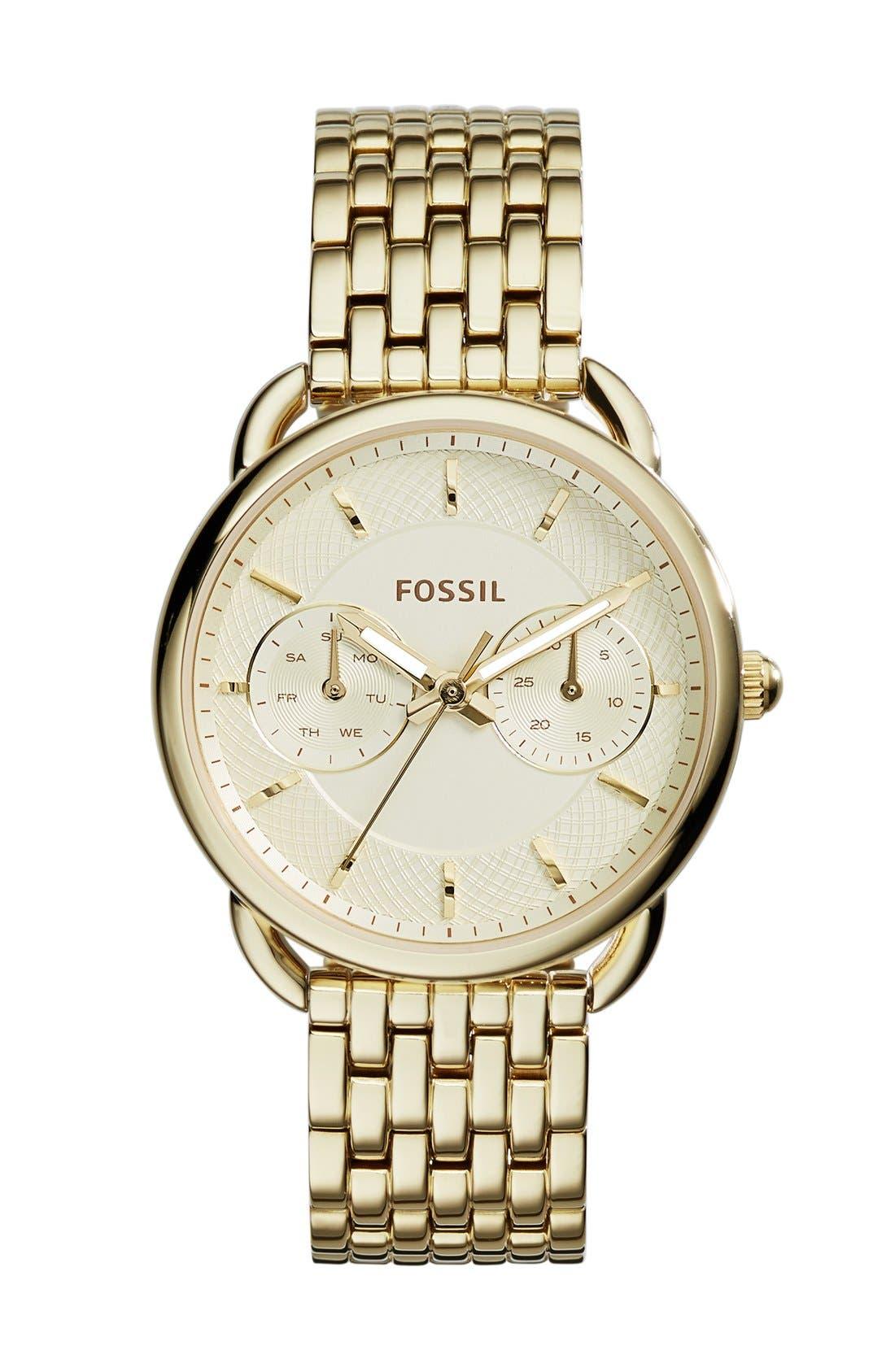 Alternate Image 1 Selected - Fossil 'Tailor' Multifunction Bracelet Watch, 16mm