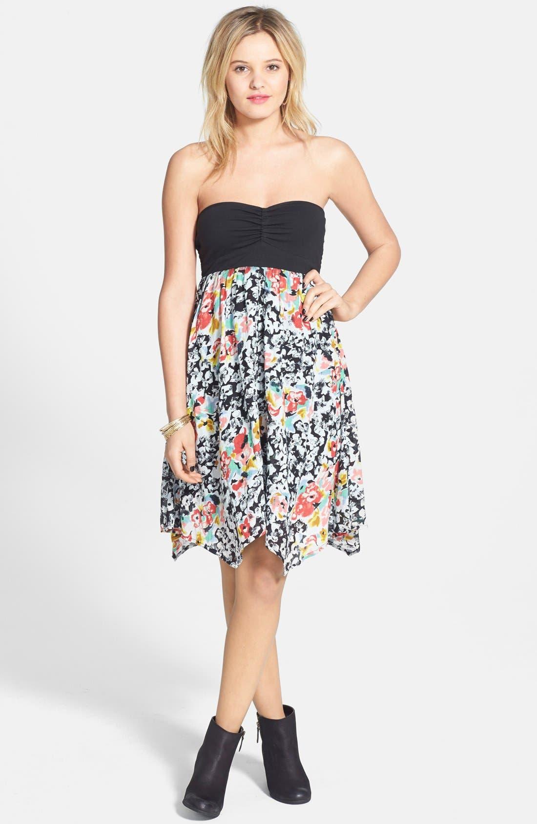 Main Image - Volcom 'Spinternship' Floral Print Dress