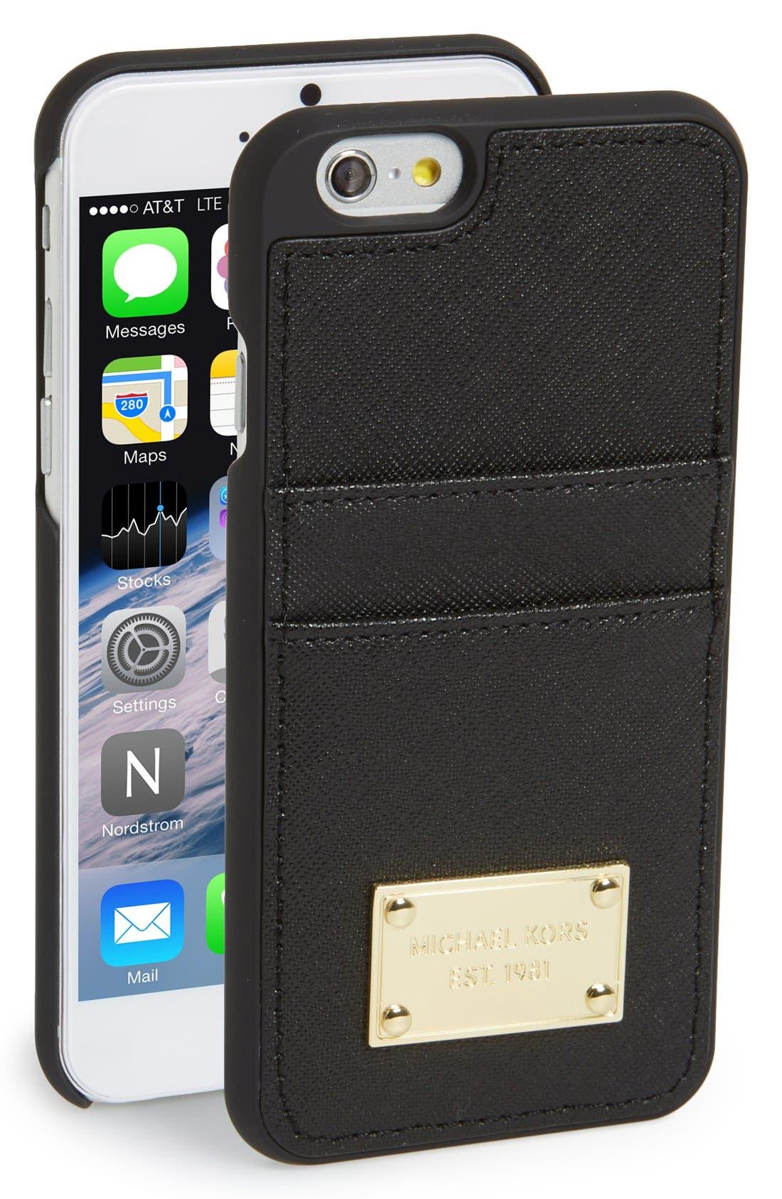 Alternate Image 1 Selected - MICHAEL Michael Kors Card Holder iPhone 6 & 6s Case