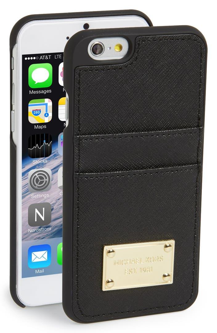 Michael michael kors card holder iphone 6 6s case for Housse iphone 6 michael kors