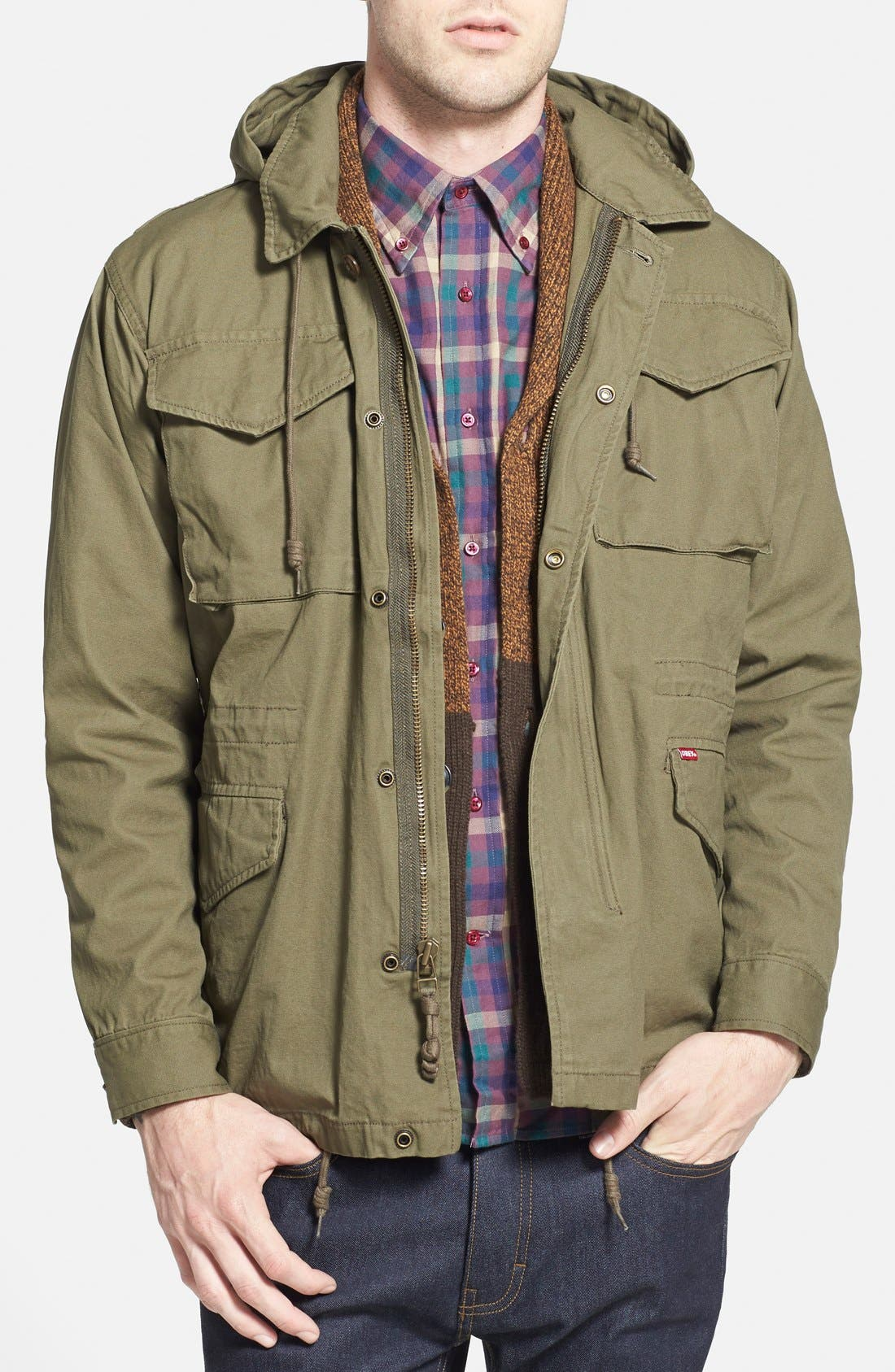 Alternate Image 1 Selected - Obey 'Iggy' M-65 Field Jacket with Detachable Hood