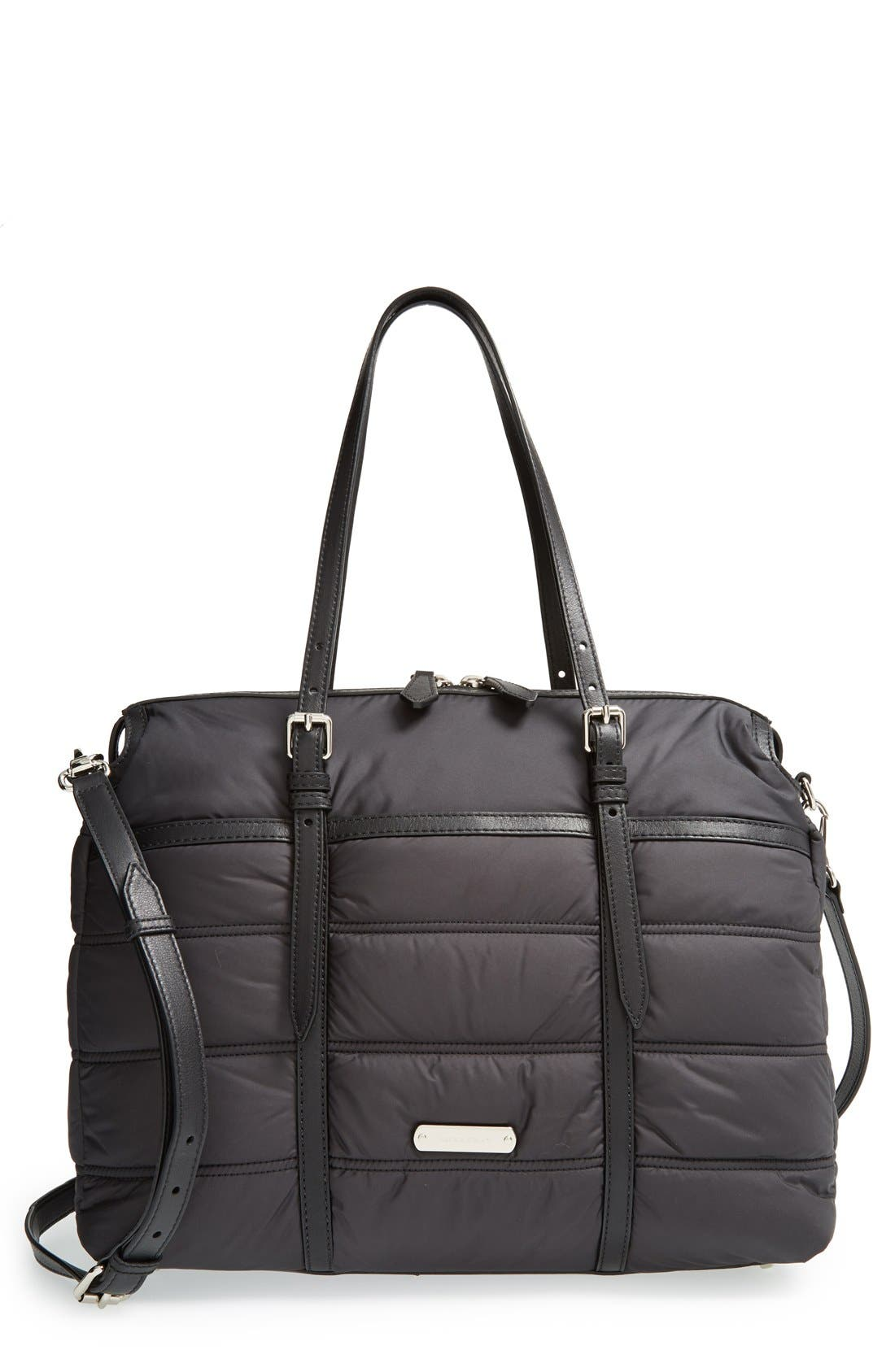 Main Image - Burberry Quilted Diaper Bag