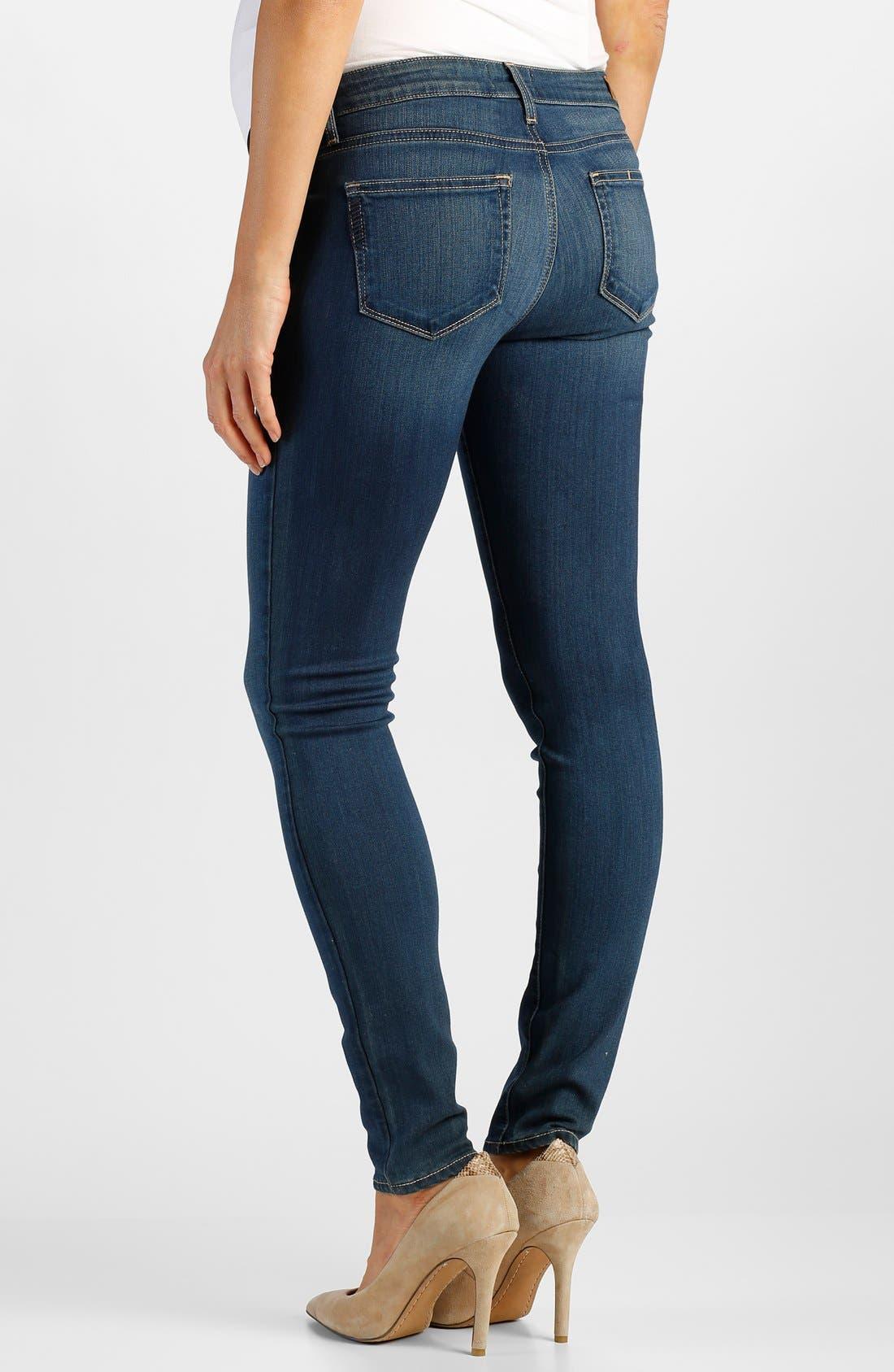 Alternate Image 2  - Paige Denim 'Transcend - Verdugo' Maternity Ankle Jeans with Side Gussets (Lex)