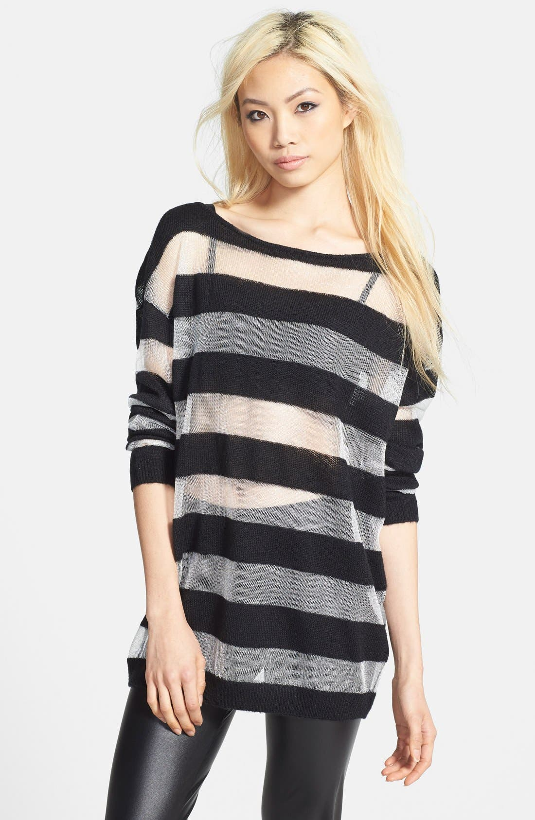 Main Image - Leith Mixed Stripe Pullover