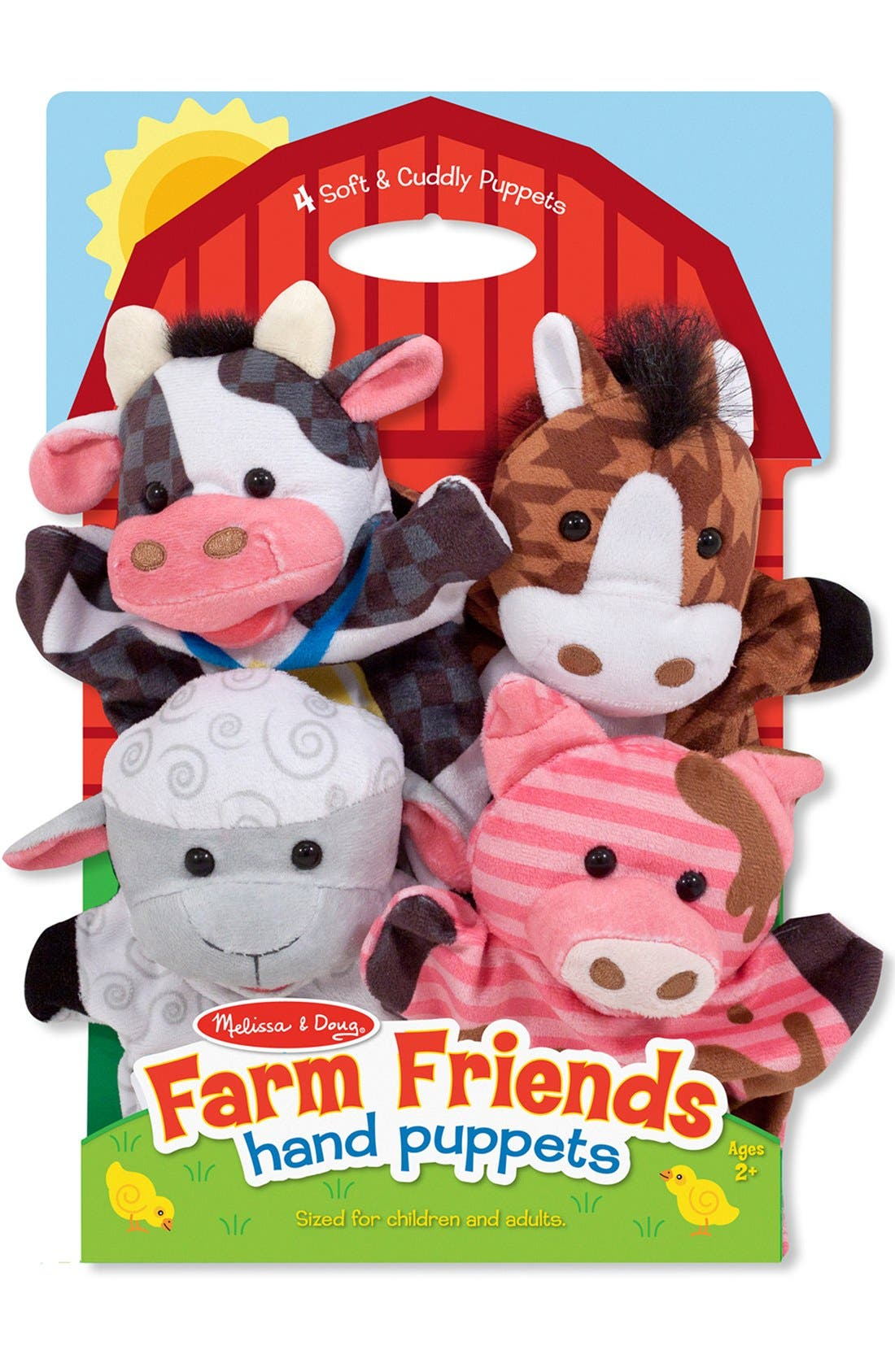 MELISSA & DOUG 'Farm Friends' Hand Puppets