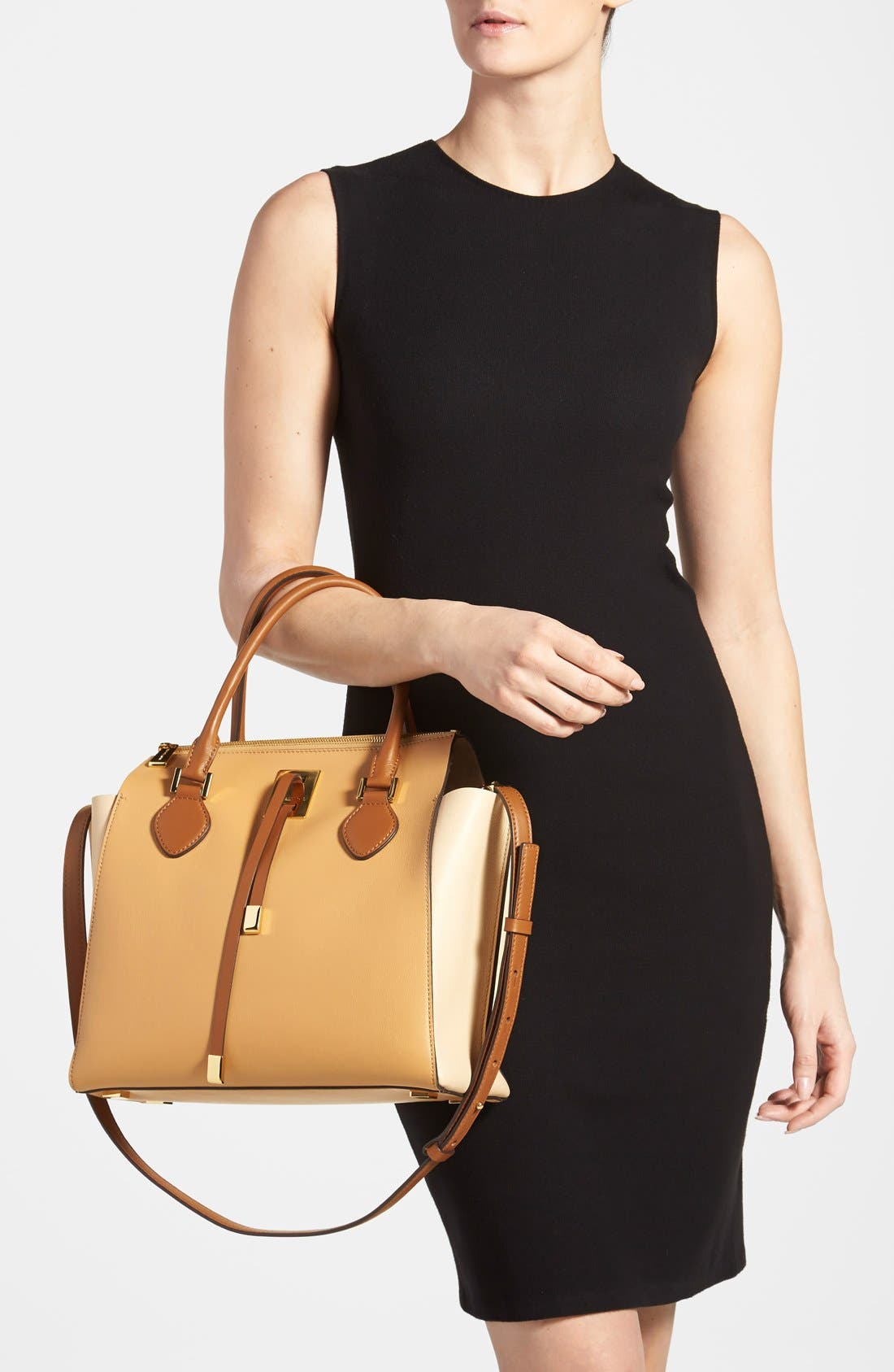 Alternate Image 2  - Michael Kors 'Miranda' Colorblock Leather Satchel