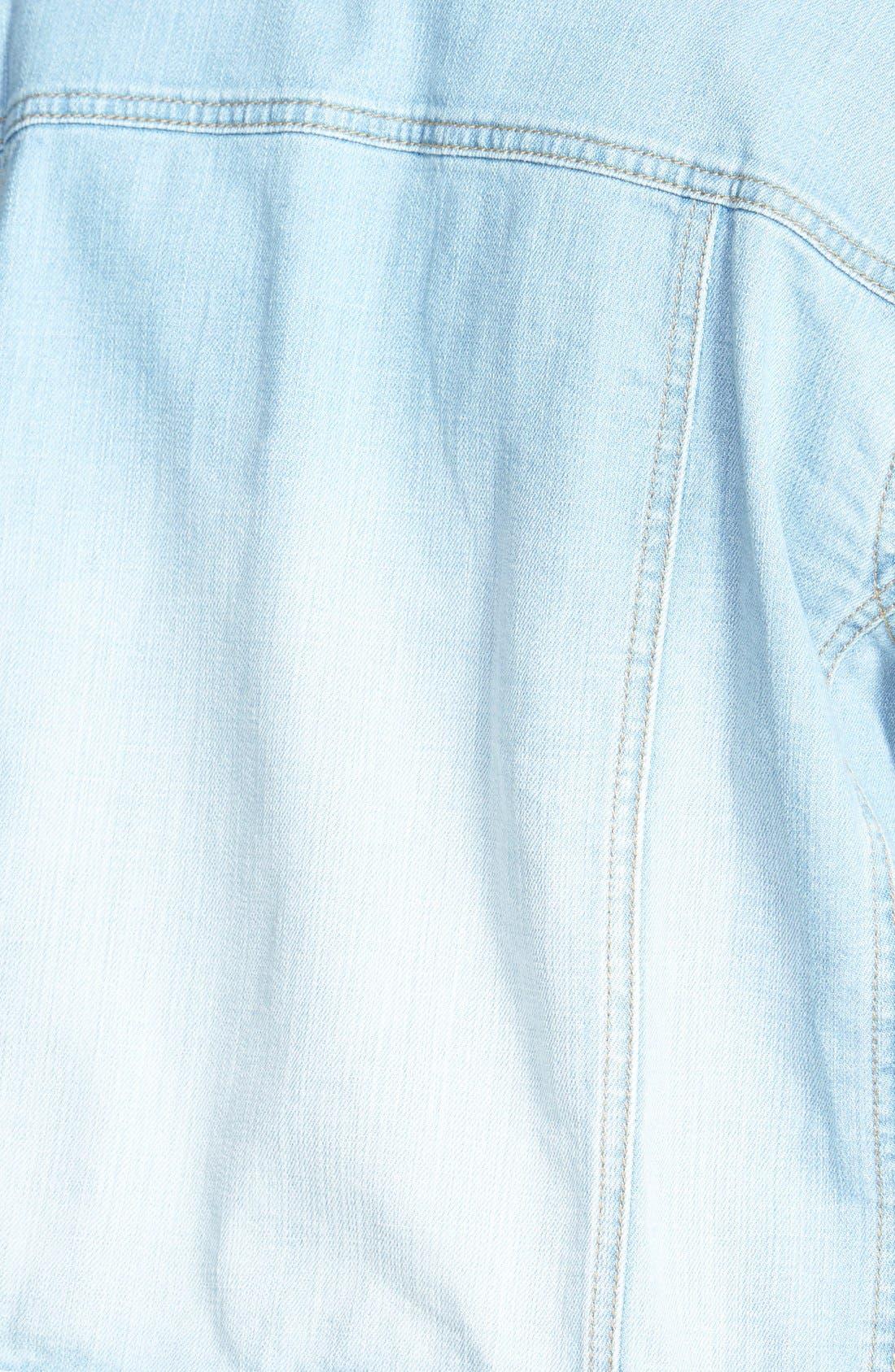 Alternate Image 3  - Sejour 'Bluejay' Crop Denim Jacket (Plus Size)