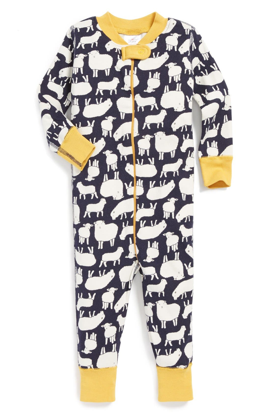 Alternate Image 1 Selected - Hanna Andersson Fitted Romper (Baby)