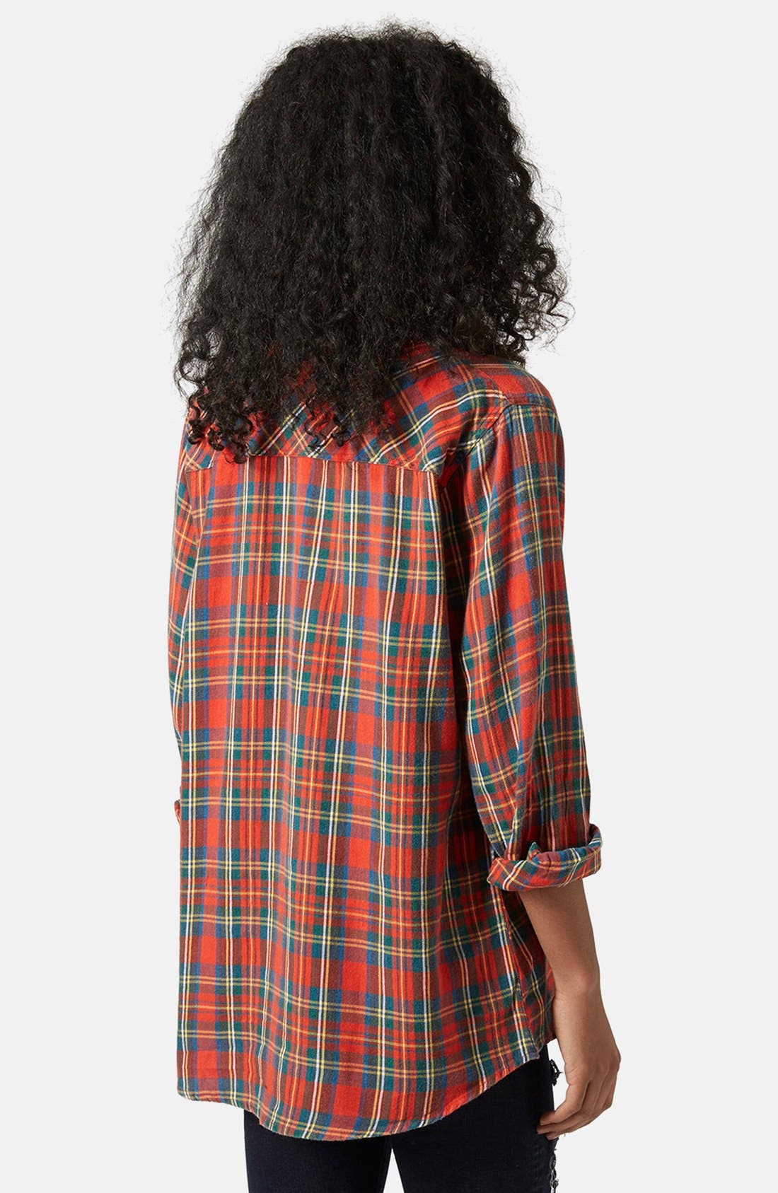 Alternate Image 2  - Topshop 'Marvin' Oversize Check Shirt