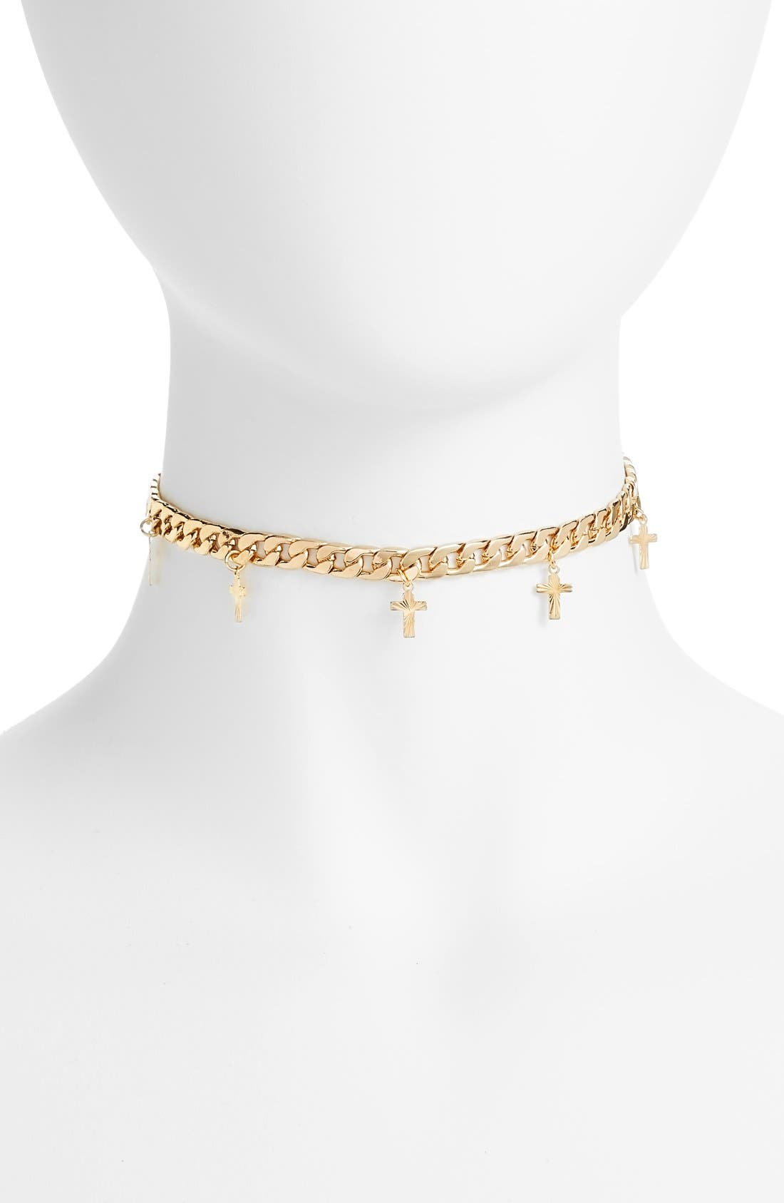 Alternate Image 1 Selected - Frasier Sterling Topanga Cross Charm Choker