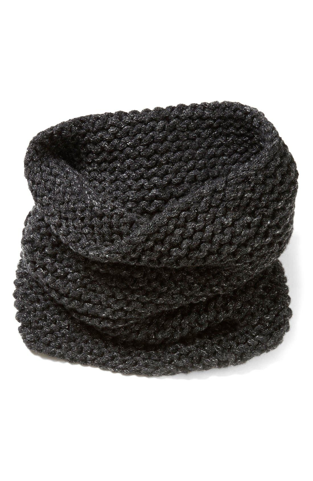 Main Image - Lafayette 148 New York Hand Knit Metallic Cashmere Tube Scarf