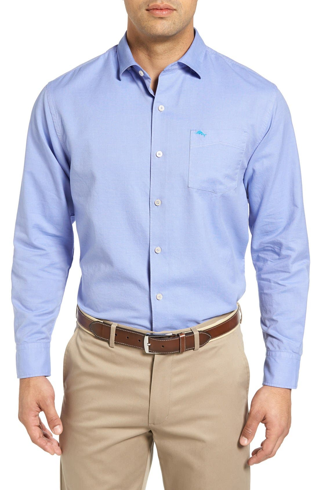 Tommy Bahama 'Island Twill' Sport Shirt (Big & Tall)