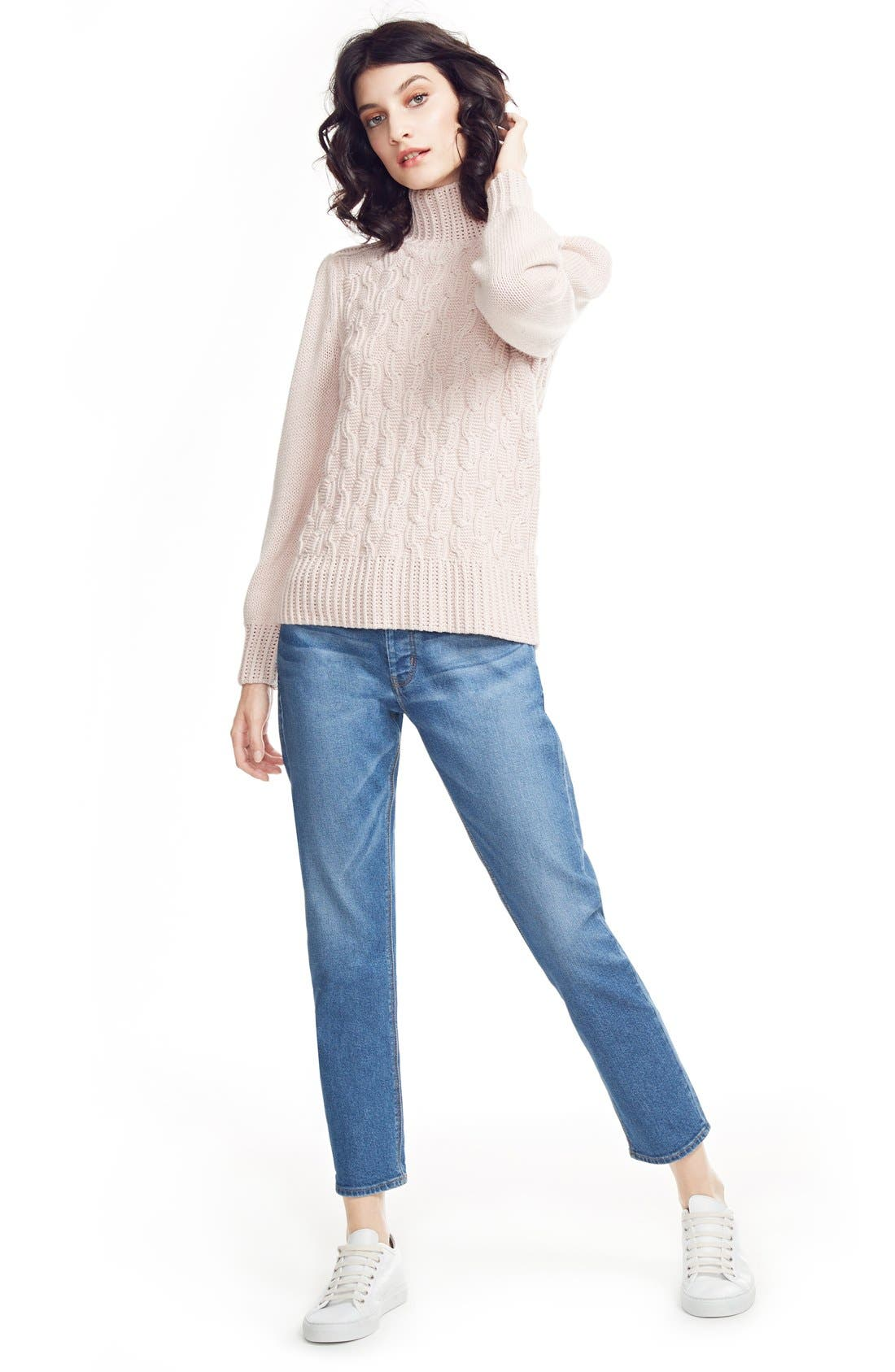 Alternate Image 6  - La Vie Rebecca Taylor Cable Knit Turtleneck Sweater