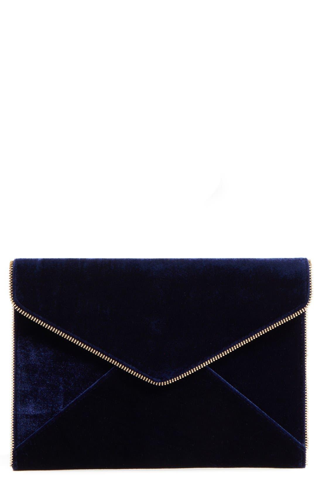 Main Image - Rebecca Minkoff Leo Velvet Envelope Clutch