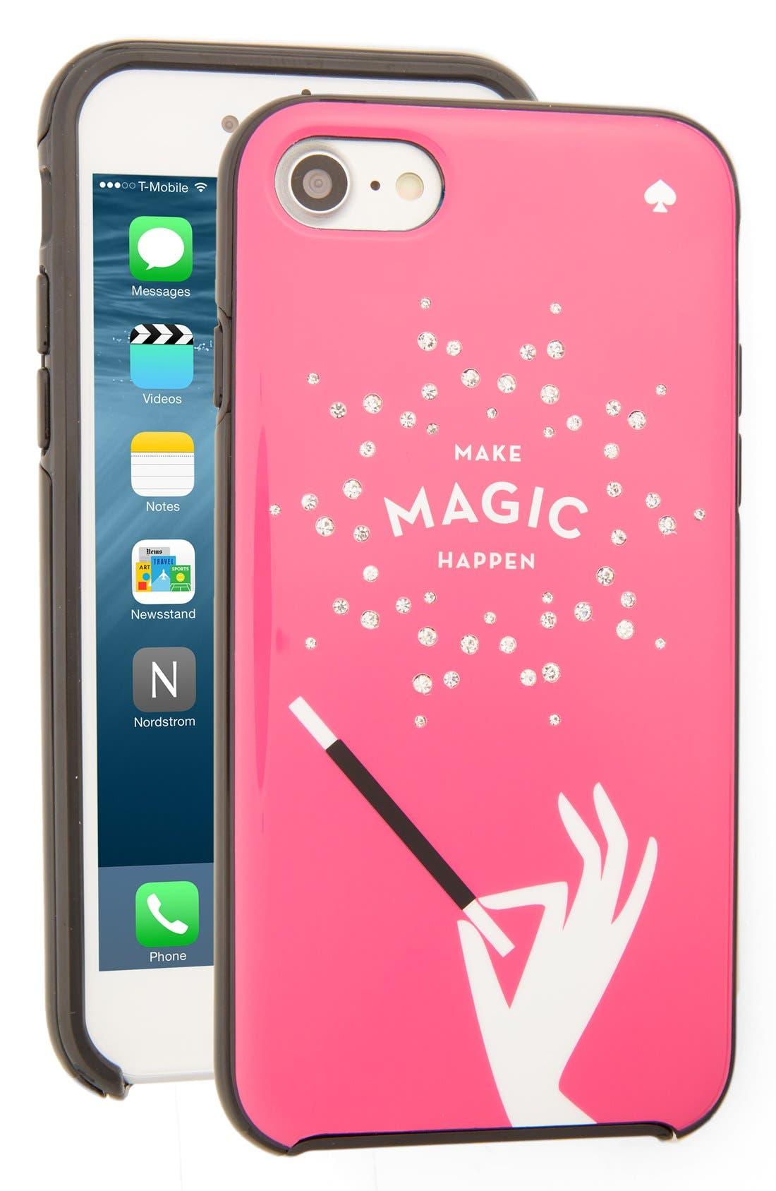 Alternate Image 1 Selected - kate spade new york make magic happen iPhone 7 case