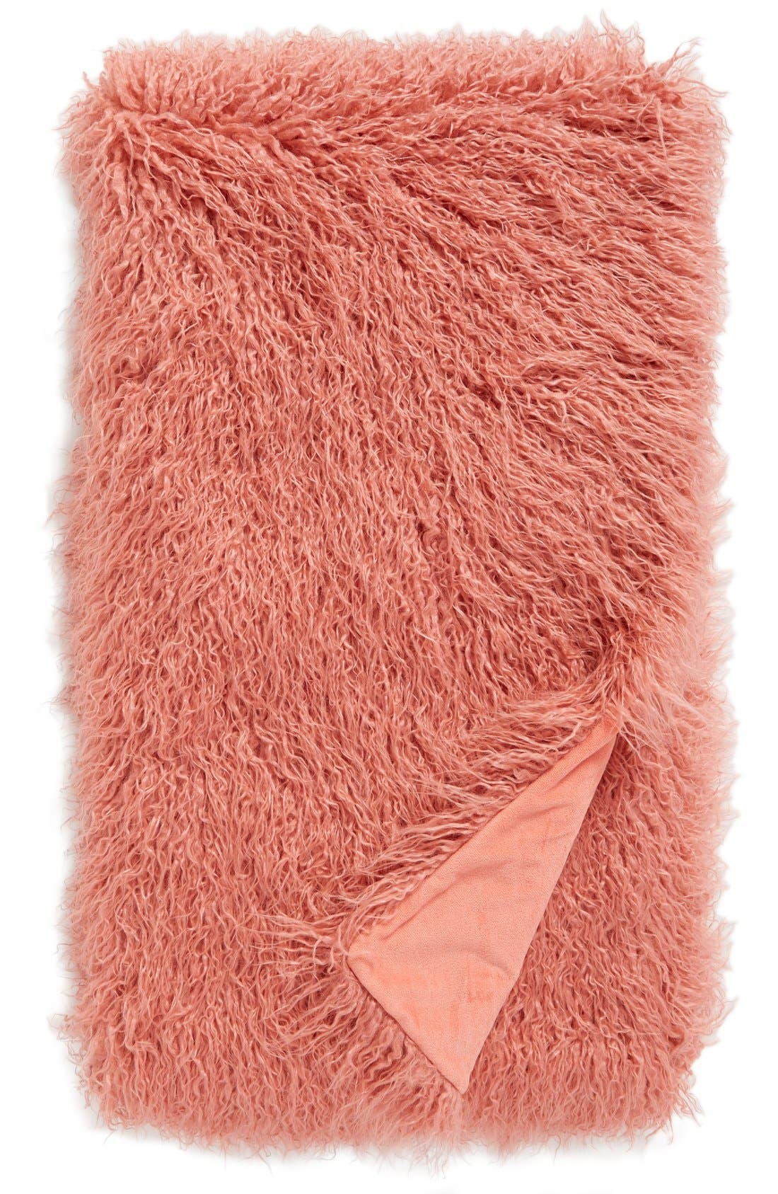Alternate Image 1 Selected - Nordstrom at Home Mongolian Faux Fur Throw